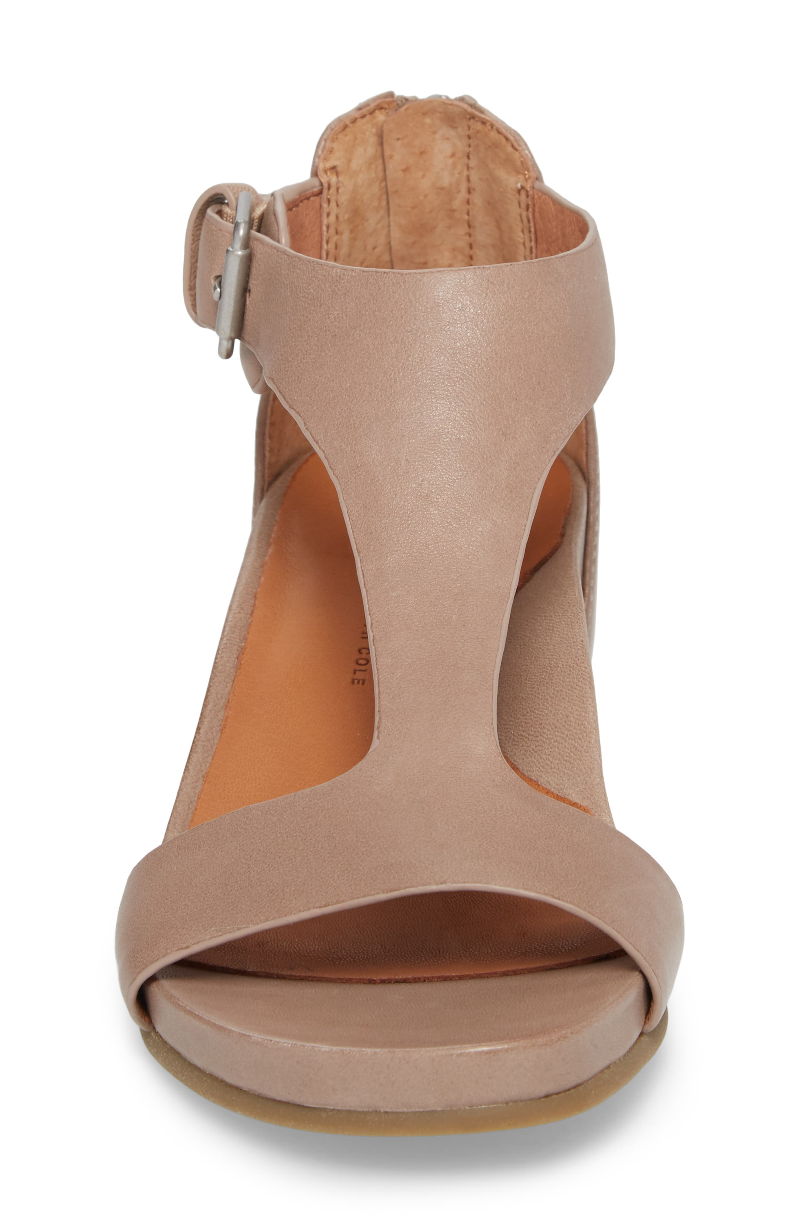 GENTLE SOULS BY KENNETH COLE, Gisele Wedge Sandal, Alternate thumbnail 4, color, PUTTY LEATHER