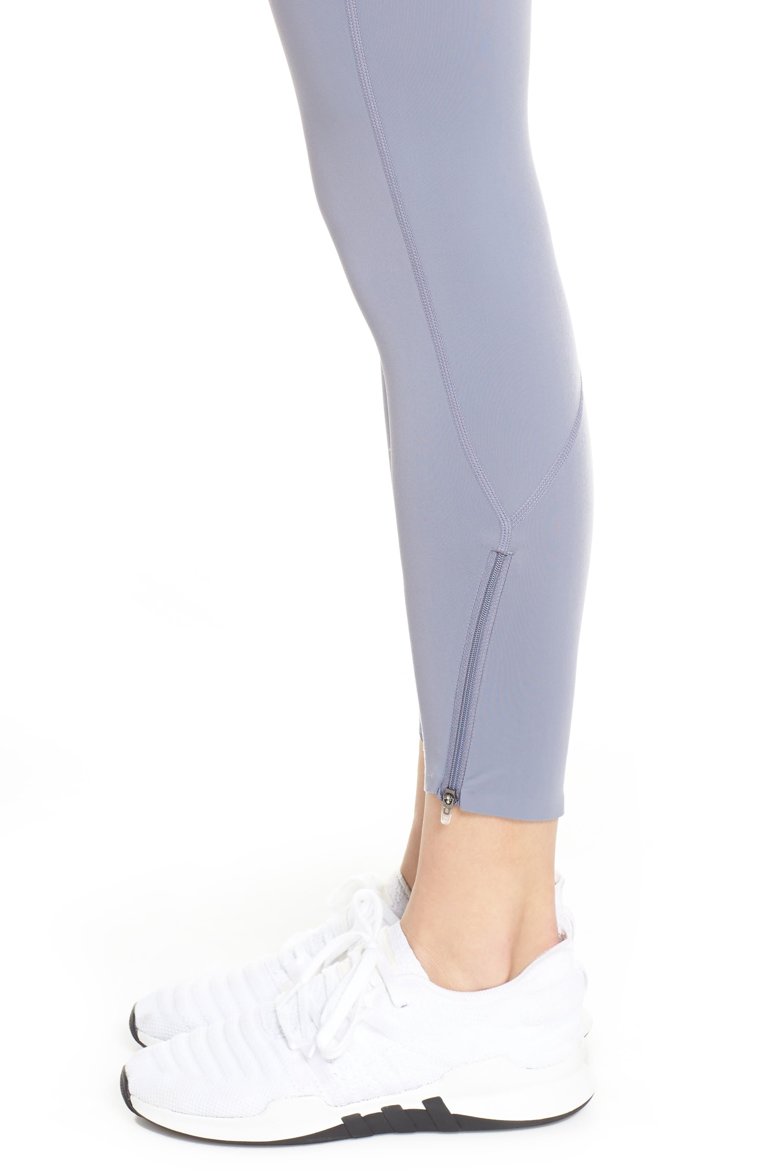 ZELLA, Luella Luxe High Waist 7/8 Leggings, Alternate thumbnail 5, color, GREY GRANITE