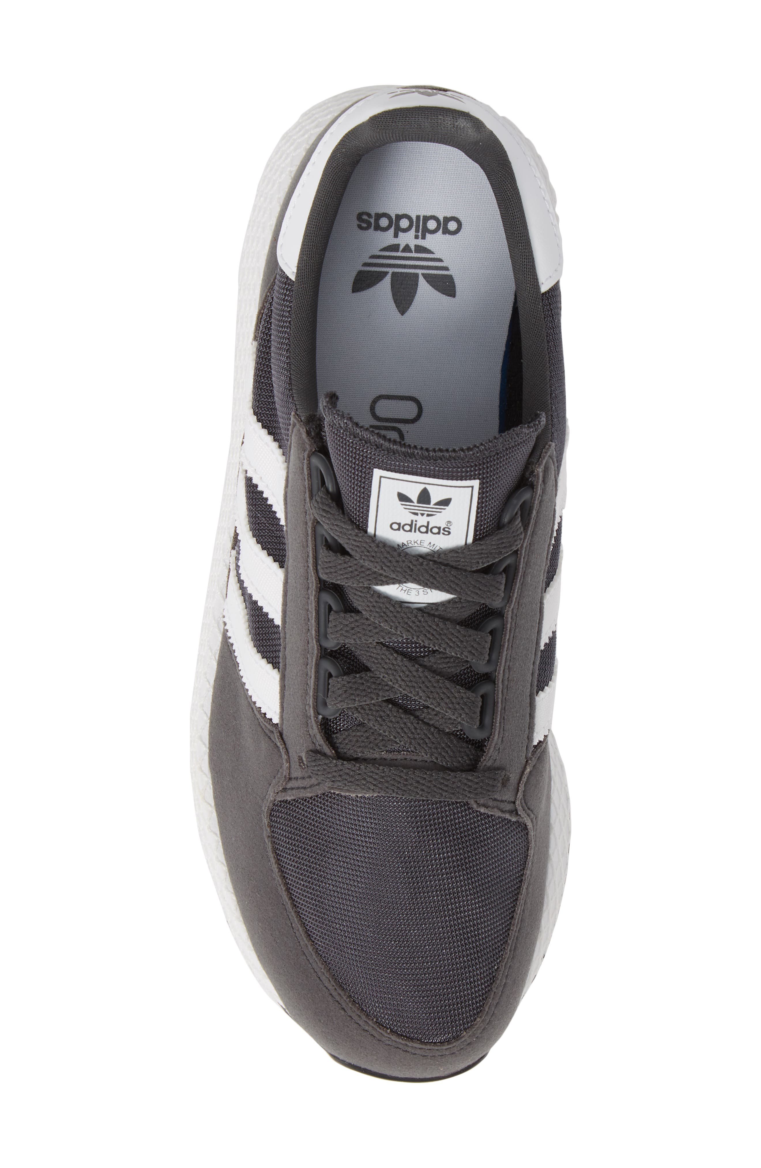 ADIDAS, Forest Grove Sneaker, Alternate thumbnail 5, color, GREY SIX/ WHITE/ GREY SIX