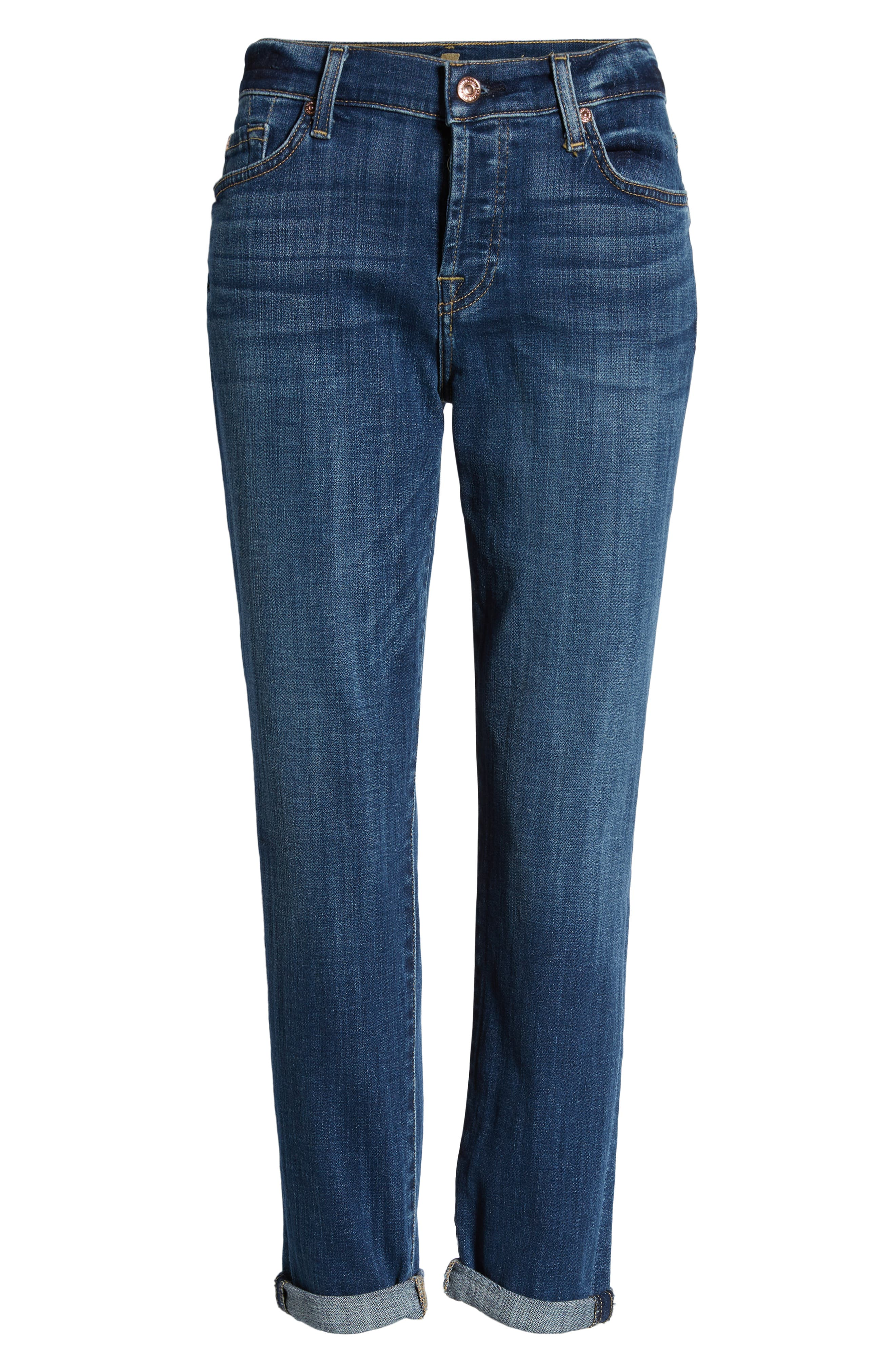 7 FOR ALL MANKIND<SUP>®</SUP>, Josefina Ankle Boyfriend Jeans, Alternate thumbnail 7, color, BROKEN TWILL VANITY CLEAN