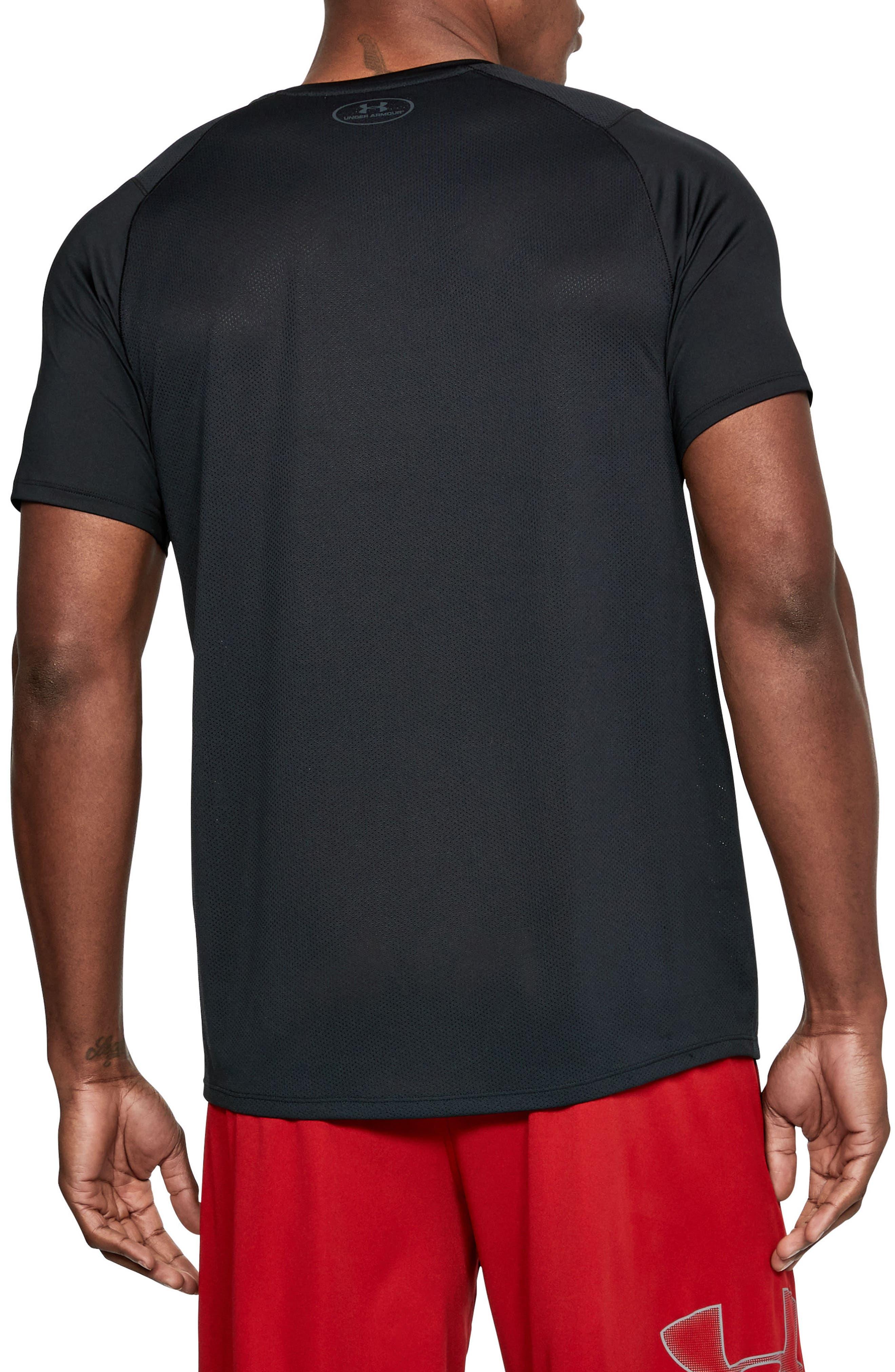 UNDER ARMOUR, Raid 2.0 Crewneck T-Shirt, Alternate thumbnail 2, color, 001