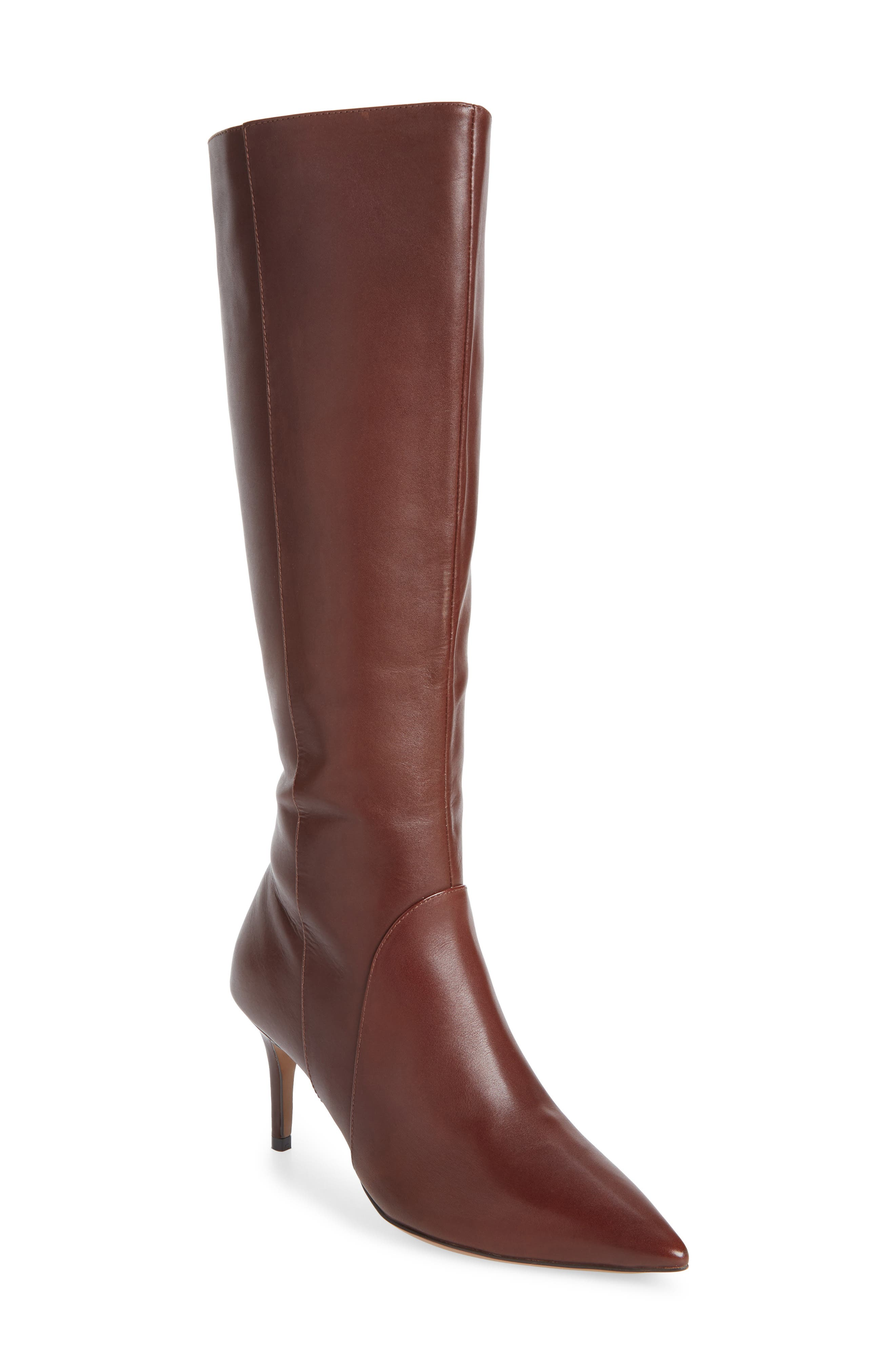 LINEA PAOLO Perfect Boot, Main, color, CHOCOLATE LEATHER