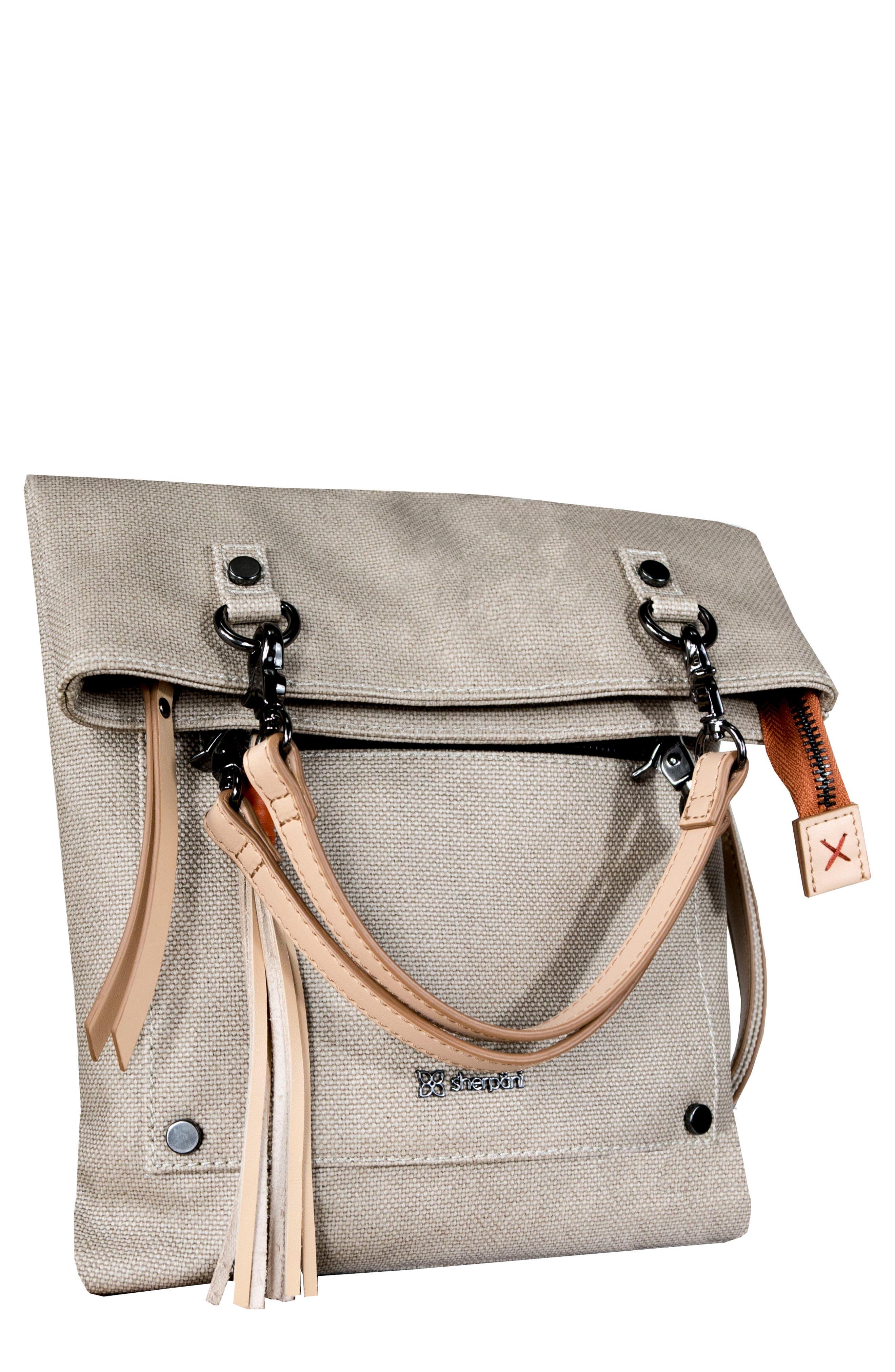 SHERPANI, Rebel Coated Canvas Crossbody Bag, Main thumbnail 1, color, NATURAL