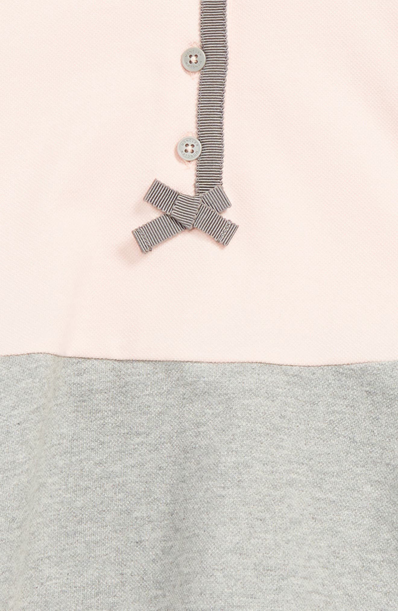 MONCLER, Abito Knit Dress, Alternate thumbnail 2, color, DARK PINK
