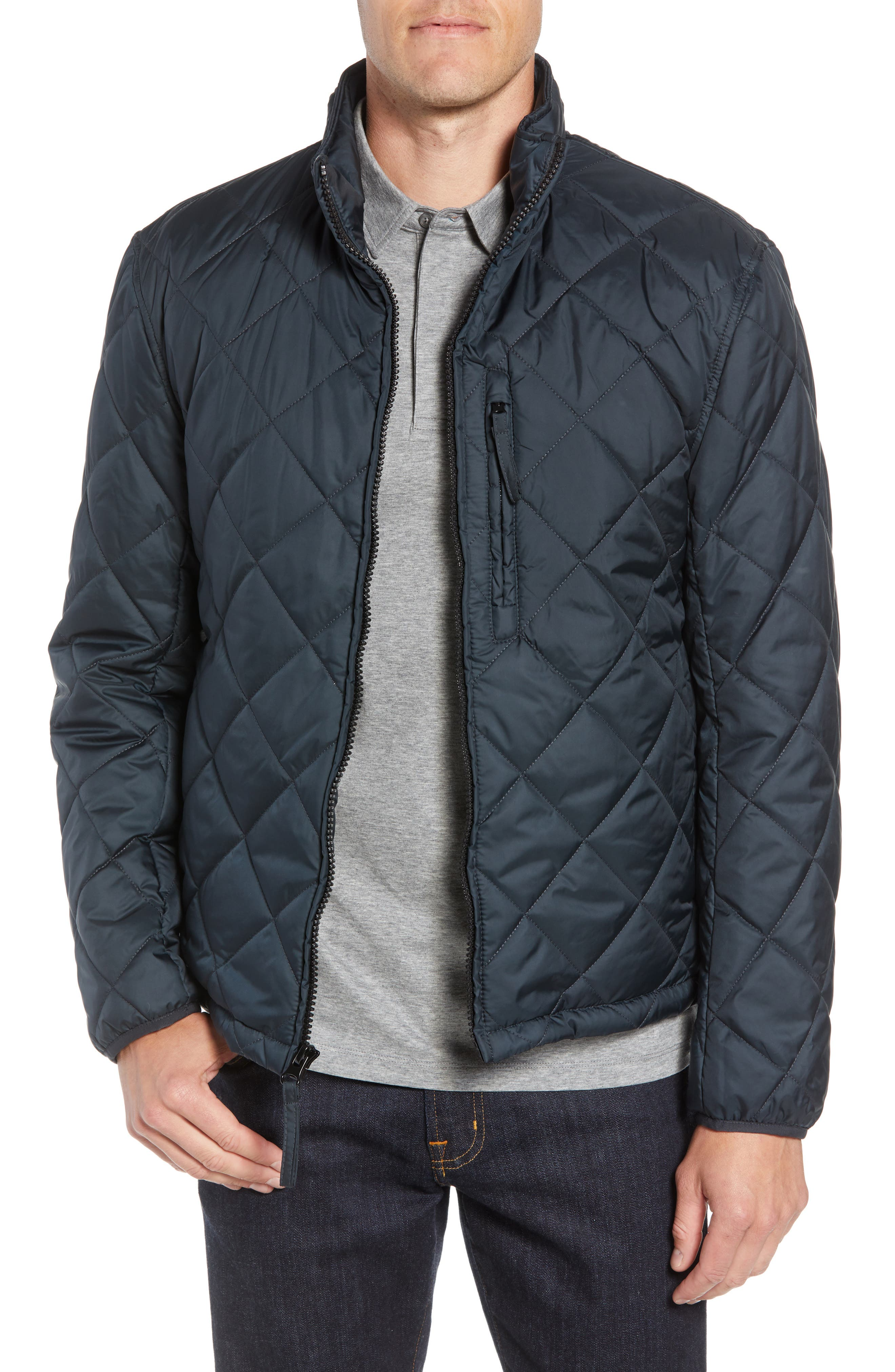 MARC NEW YORK, Humboldt Quilted Jacket, Main thumbnail 1, color, BLACK