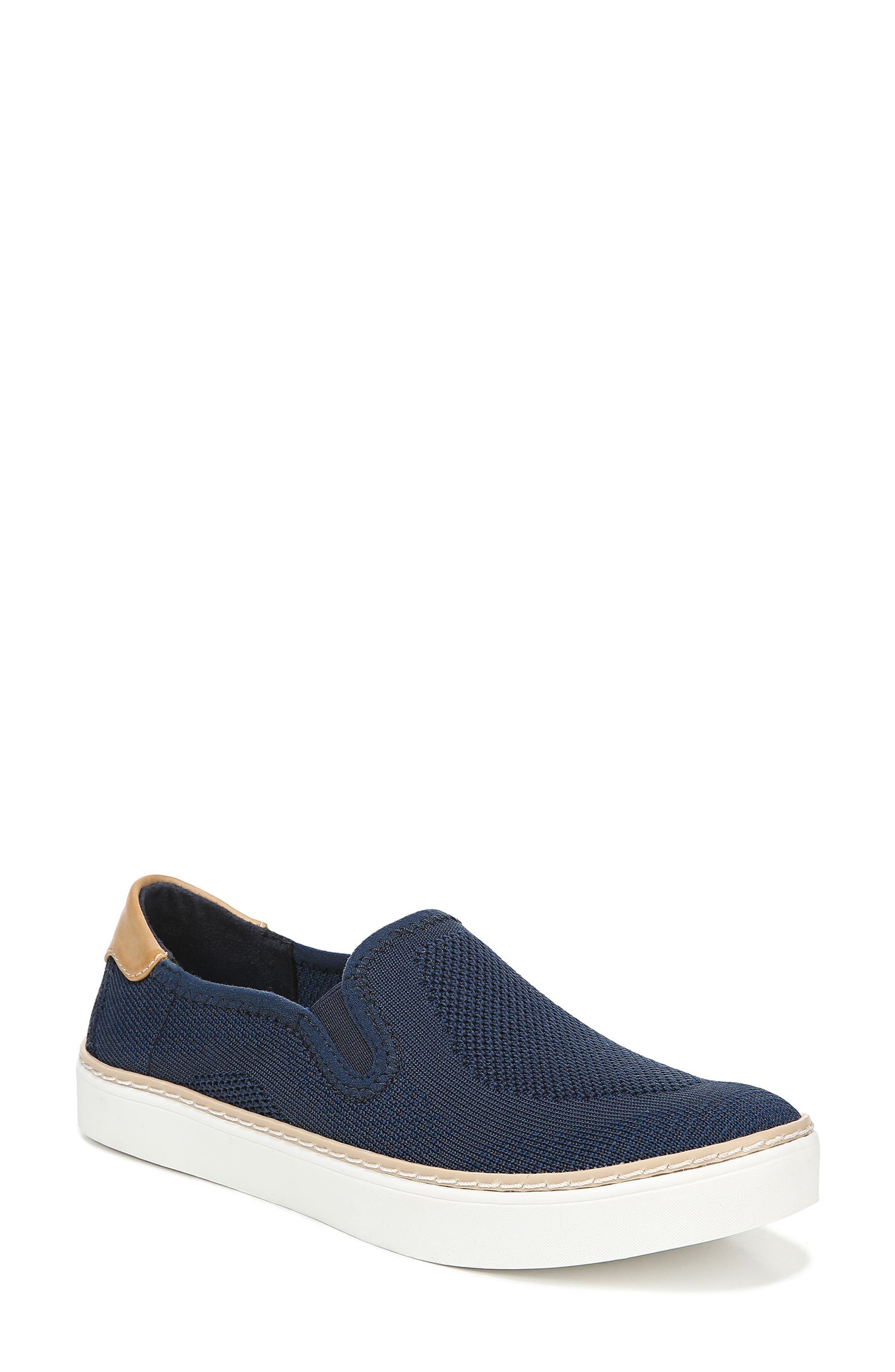 DR. SCHOLL'S Madi Slip-On Sneaker, Main, color, NAVY KNIT FABRIC