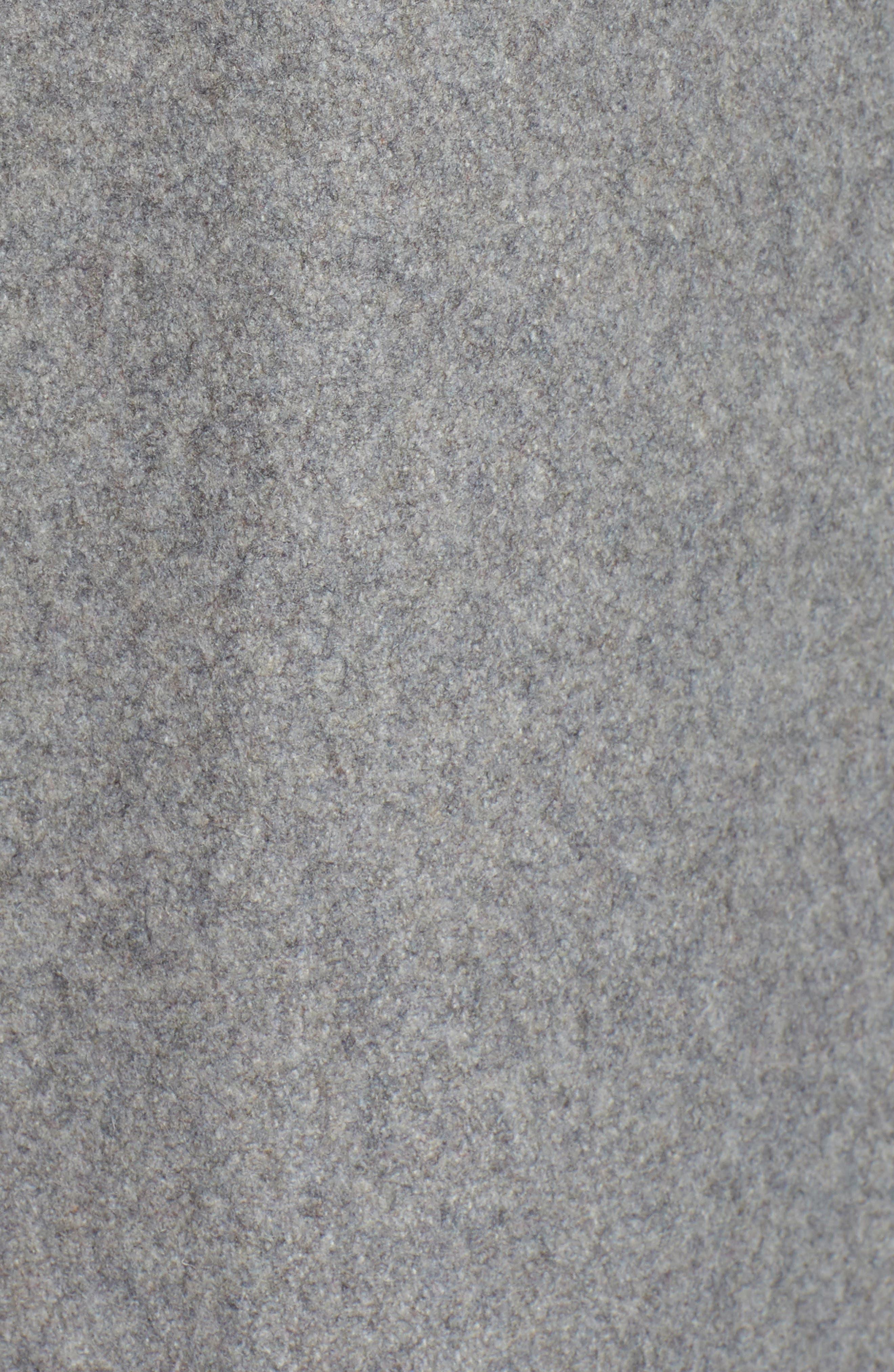 HALOGEN<SUP>®</SUP>, Belted Wool Blend Coat, Alternate thumbnail 7, color, GREY