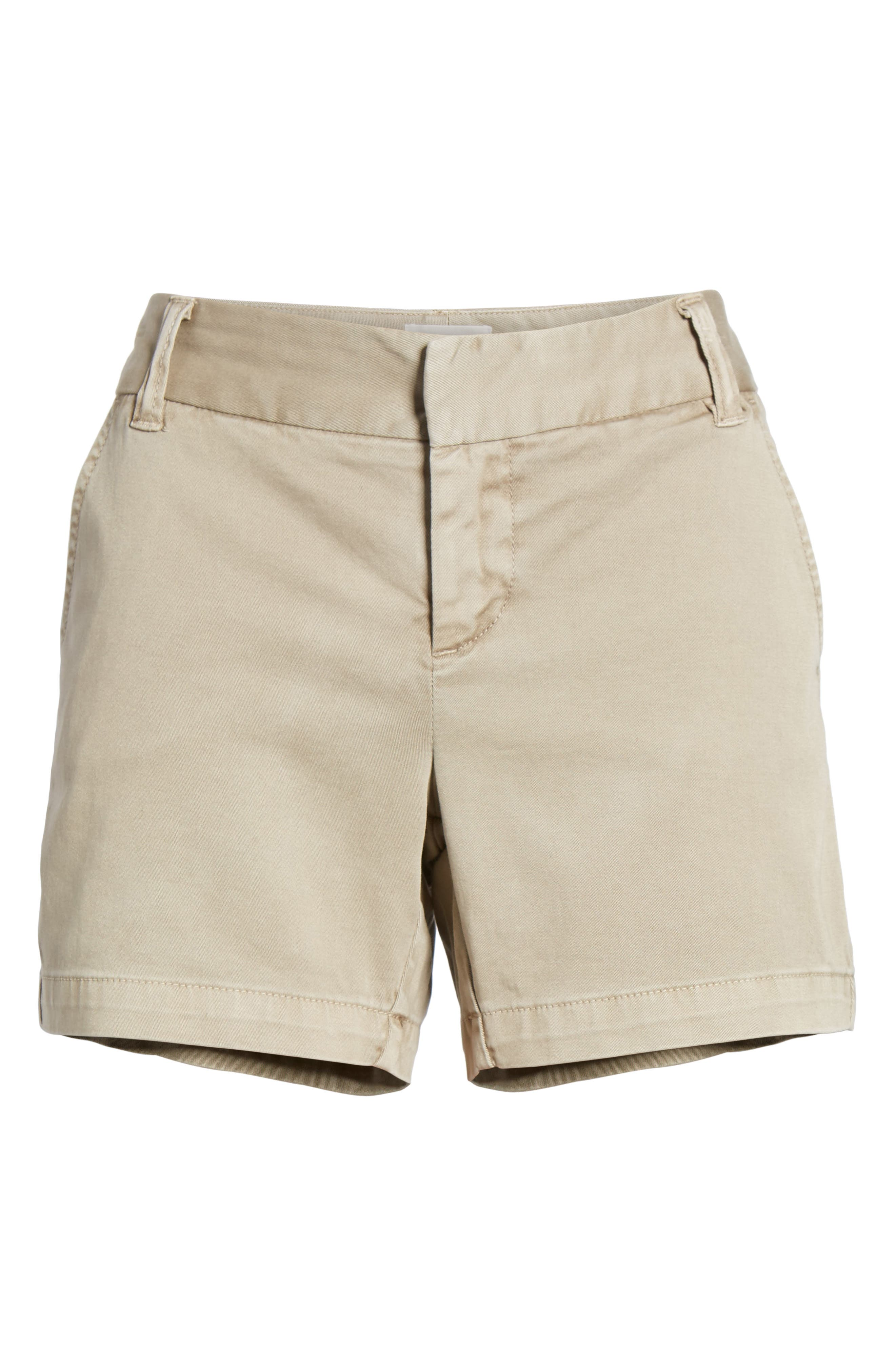 CASLON<SUP>®</SUP>, Cotton Twill Shorts, Alternate thumbnail 7, color, TAN COBBLESTONE