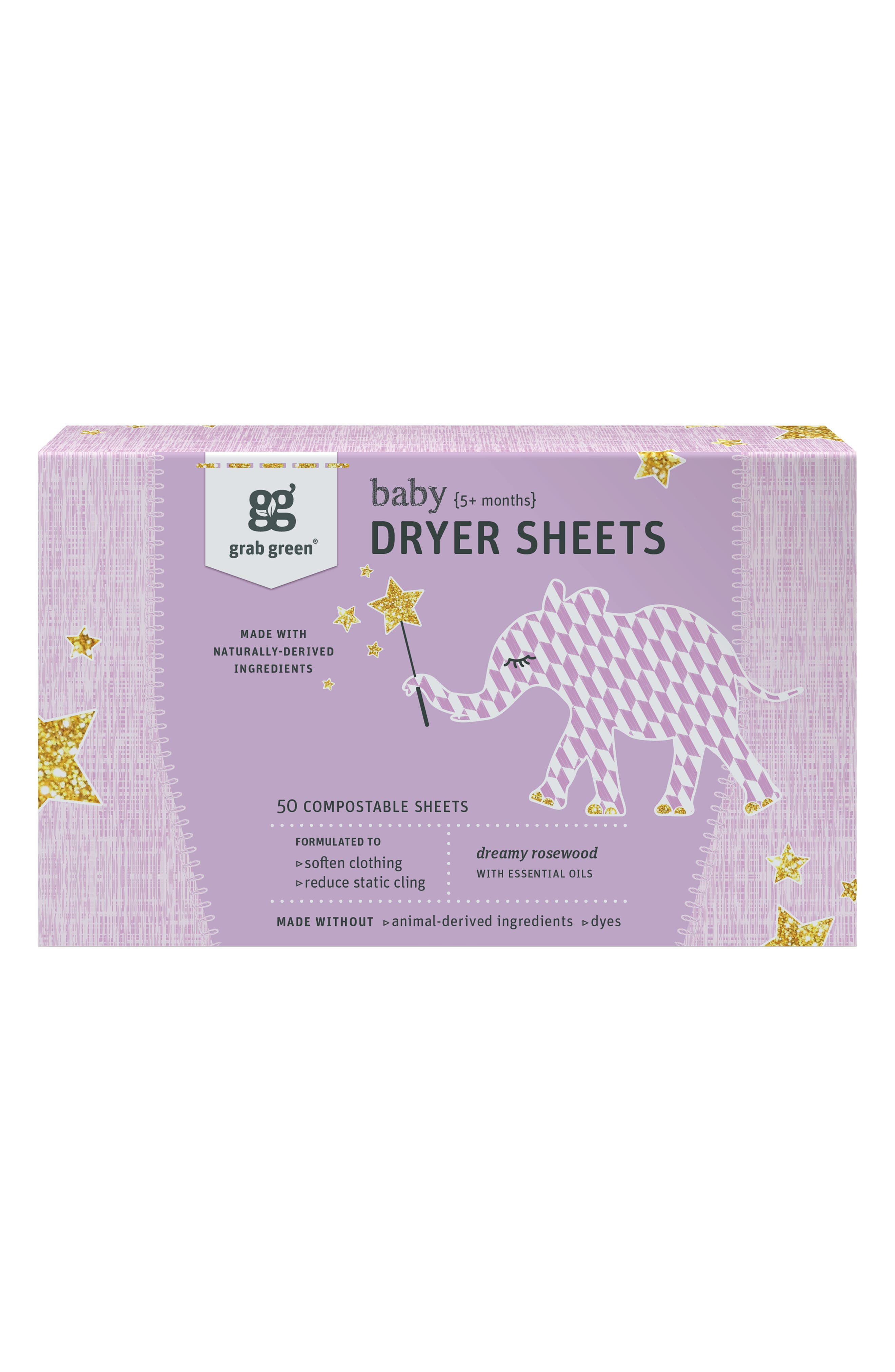GRAB GREEN, Dreamy Rosewood Baby Laundry Pods & Dryer Sheets, Alternate thumbnail 2, color, PURPLE