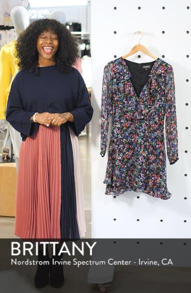Jodie Floral Print Silk Minidress, sales video thumbnail