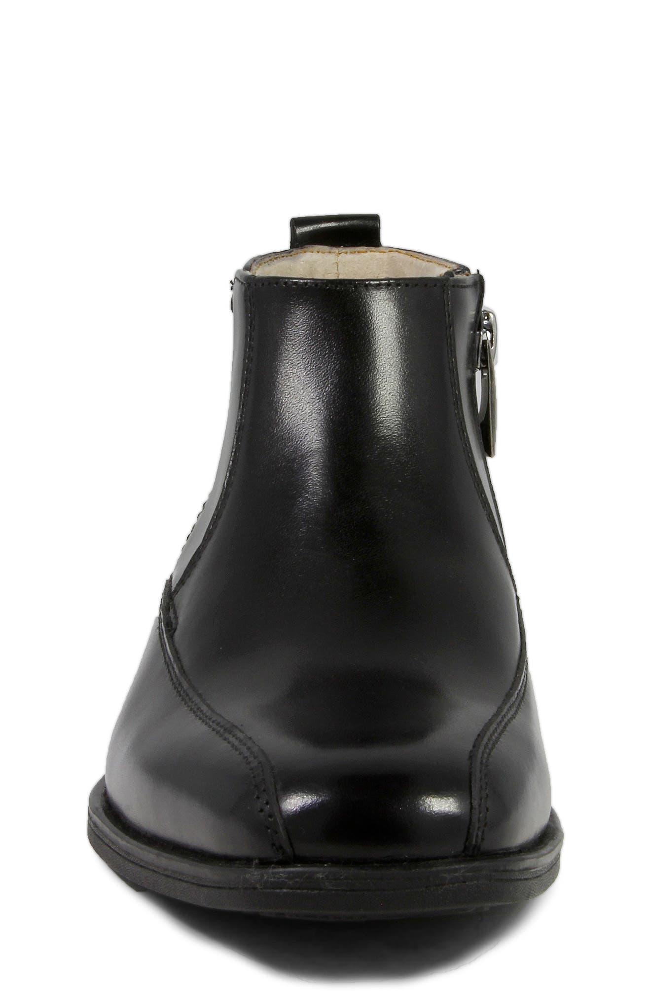 FLORSHEIM, Reveal Chelsea Boot, Alternate thumbnail 4, color, BLACK
