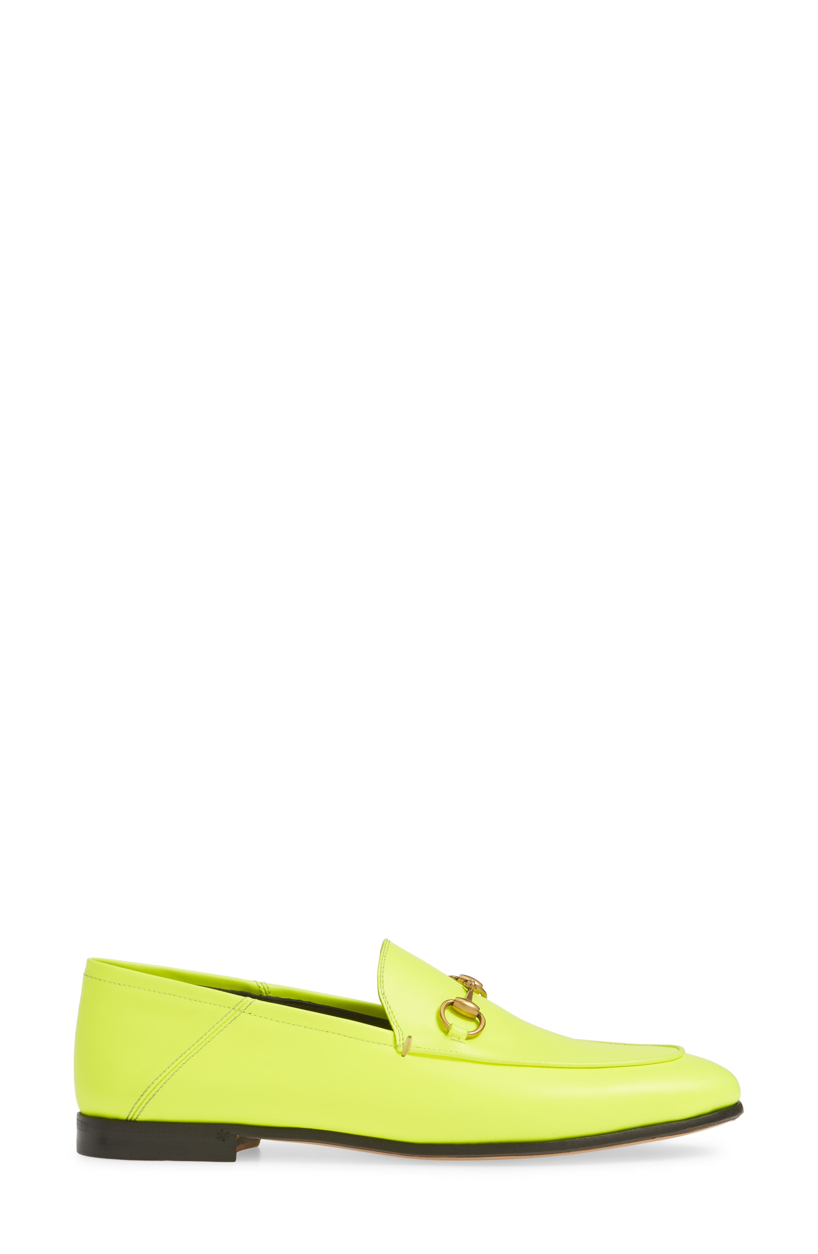 GUCCI, Brixton Convertible Loafer, Alternate thumbnail 3, color, YELLOW FLUO LEATHER