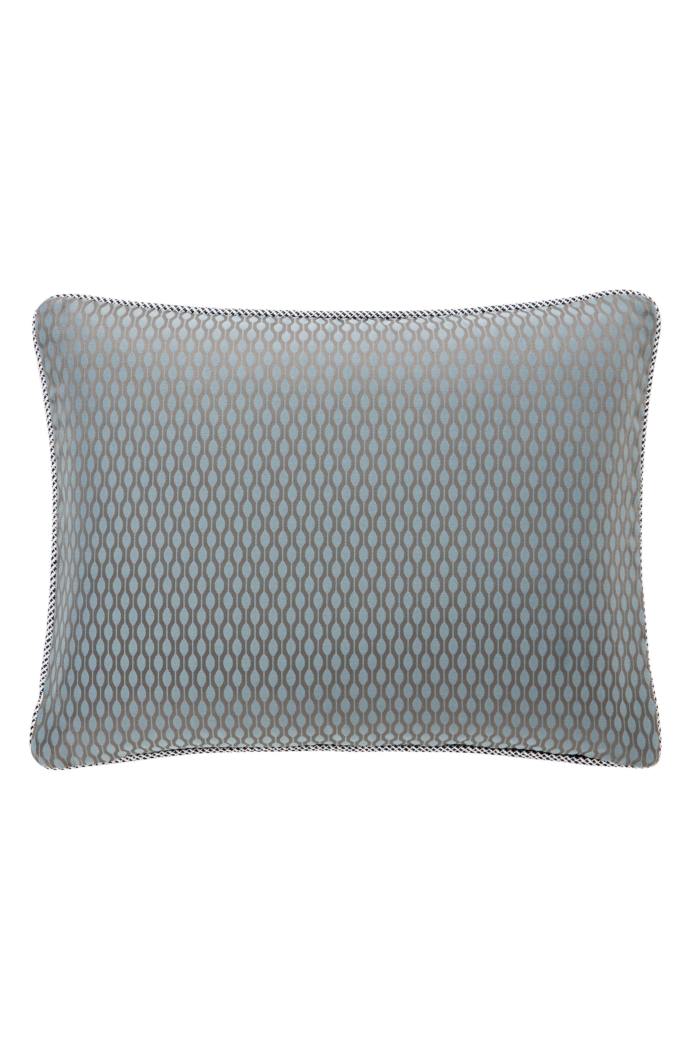 WATERFORD, Jonet Reversible Comforter, Sham & Bedskirt Set, Alternate thumbnail 4, color, INDIGO
