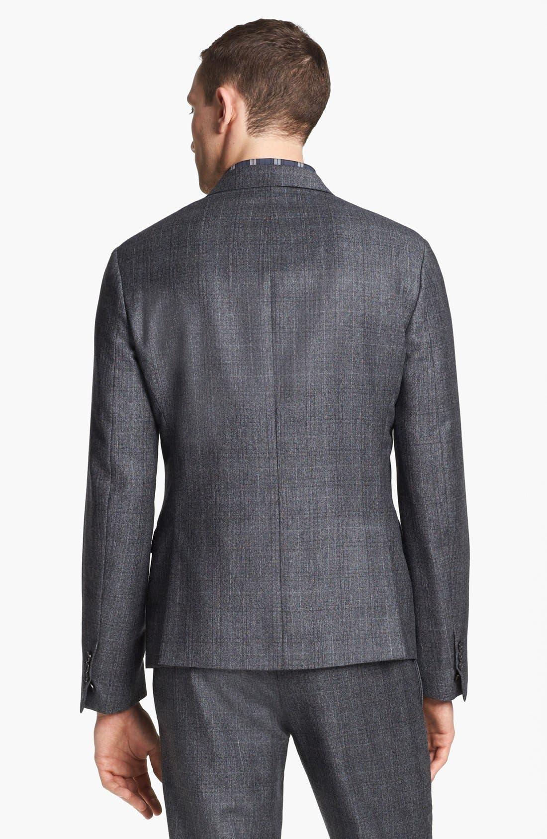NEIL BARRETT, Windowpane Plaid Wool Suit, Alternate thumbnail 2, color, 020