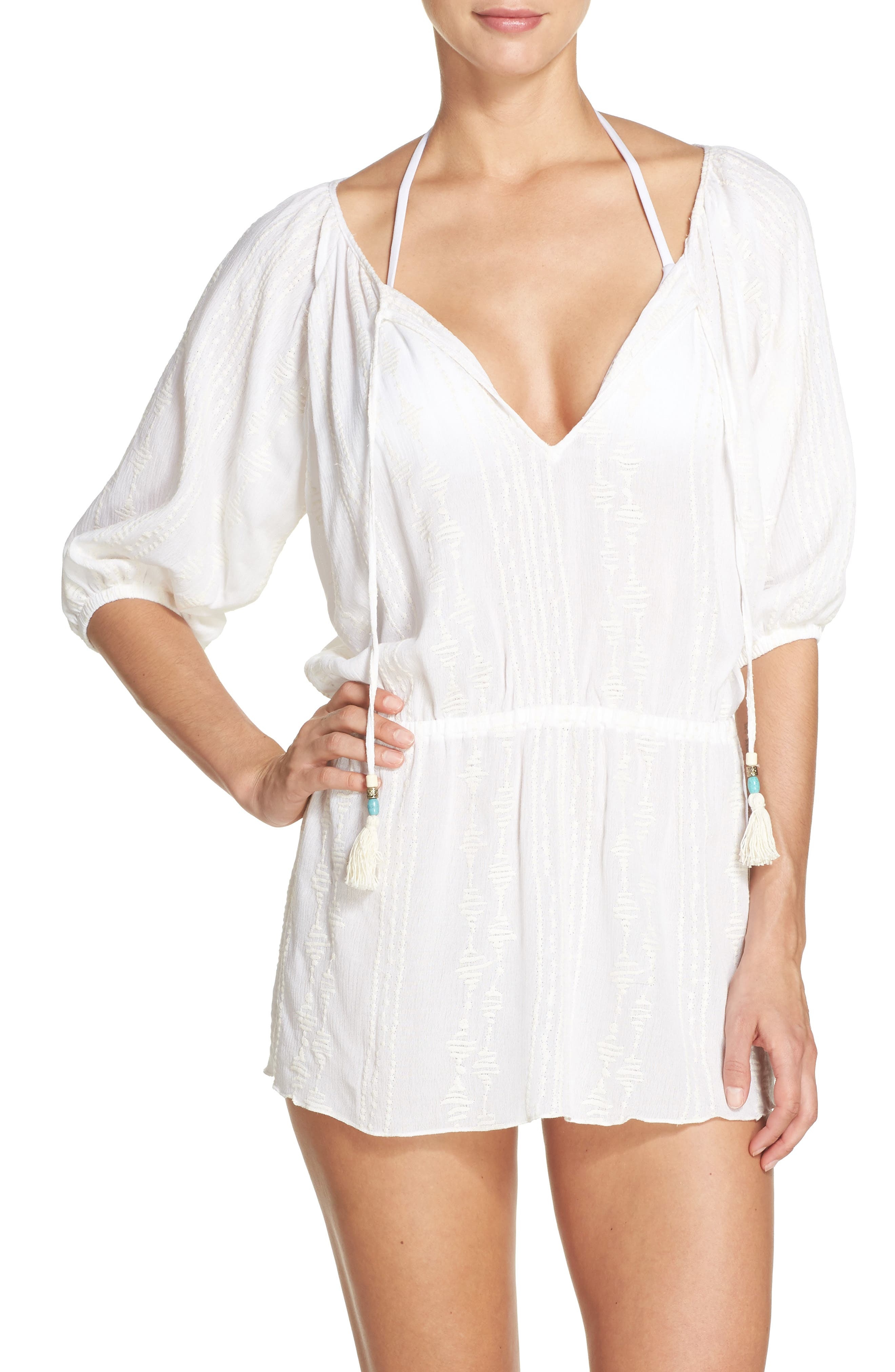 BECCA, Desert Vibes Cover-Up Tunic, Main thumbnail 1, color, 900
