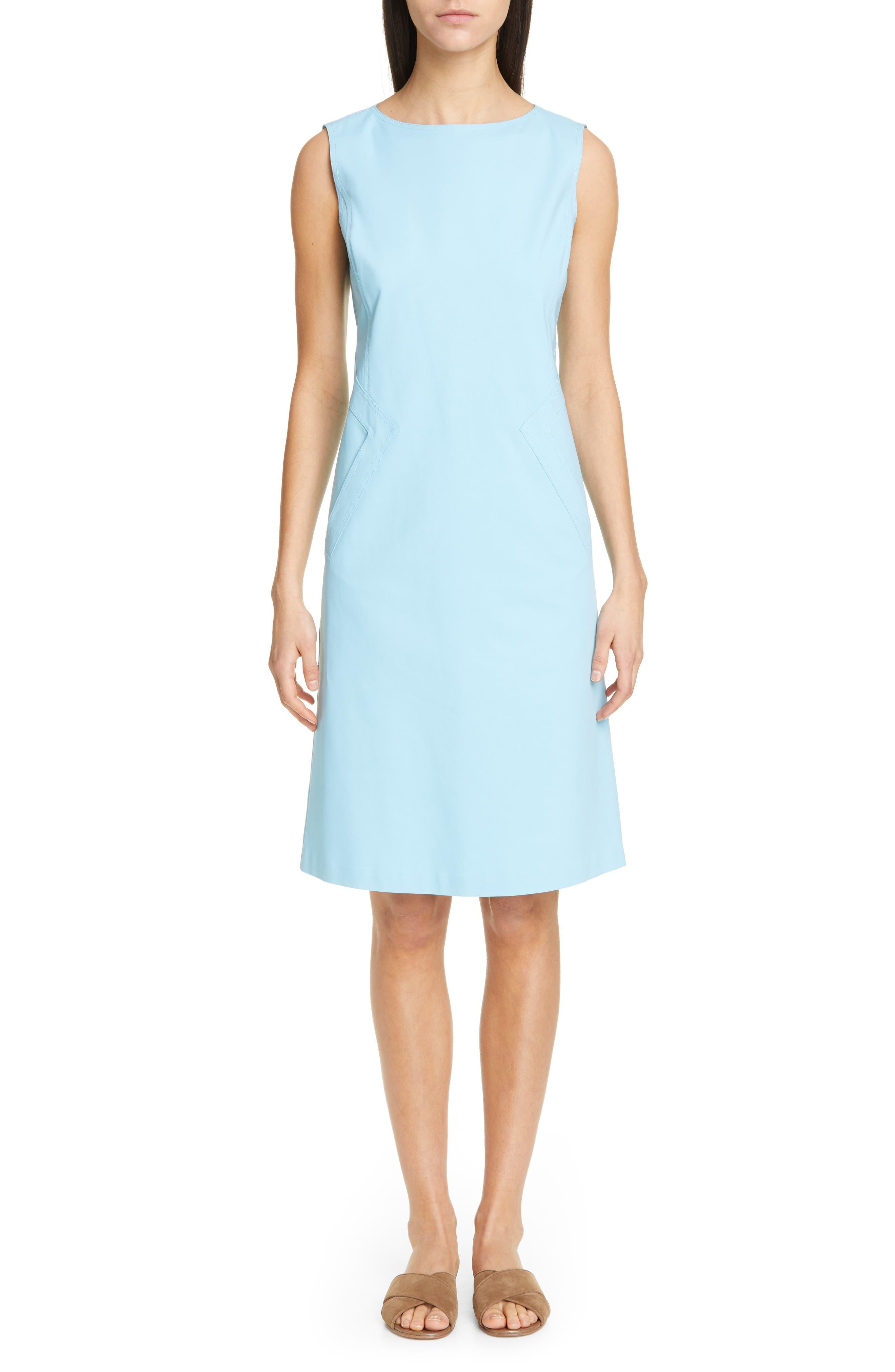 LAFAYETTE 148 NEW YORK Ensley Shift Dress, Main, color, LAGOON