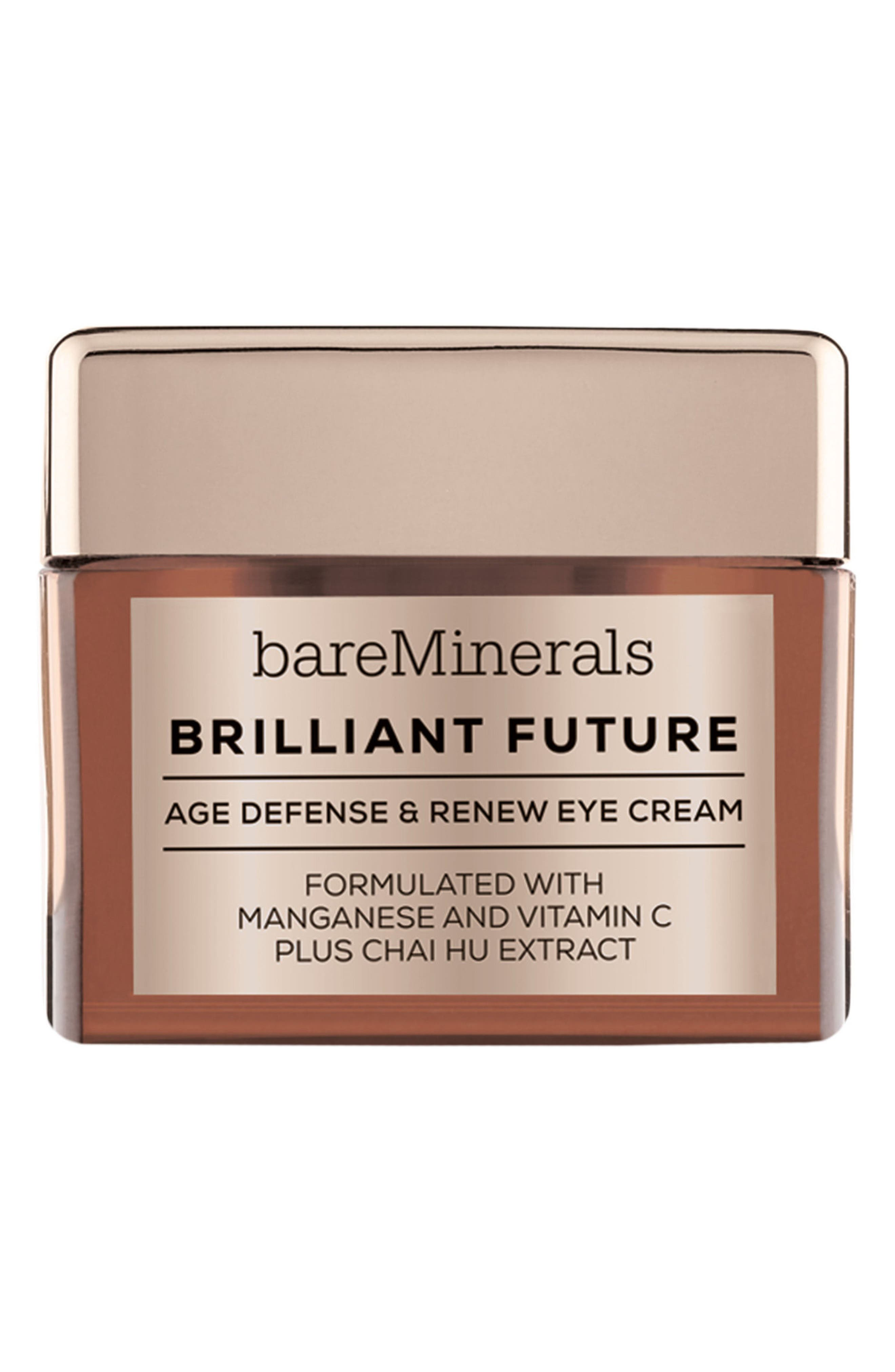 BAREMINERALS<SUP>®</SUP>, Brilliant Future<sup>™</sup> Age Defense & Renew Eye Cream, Main thumbnail 1, color, NO COLOR