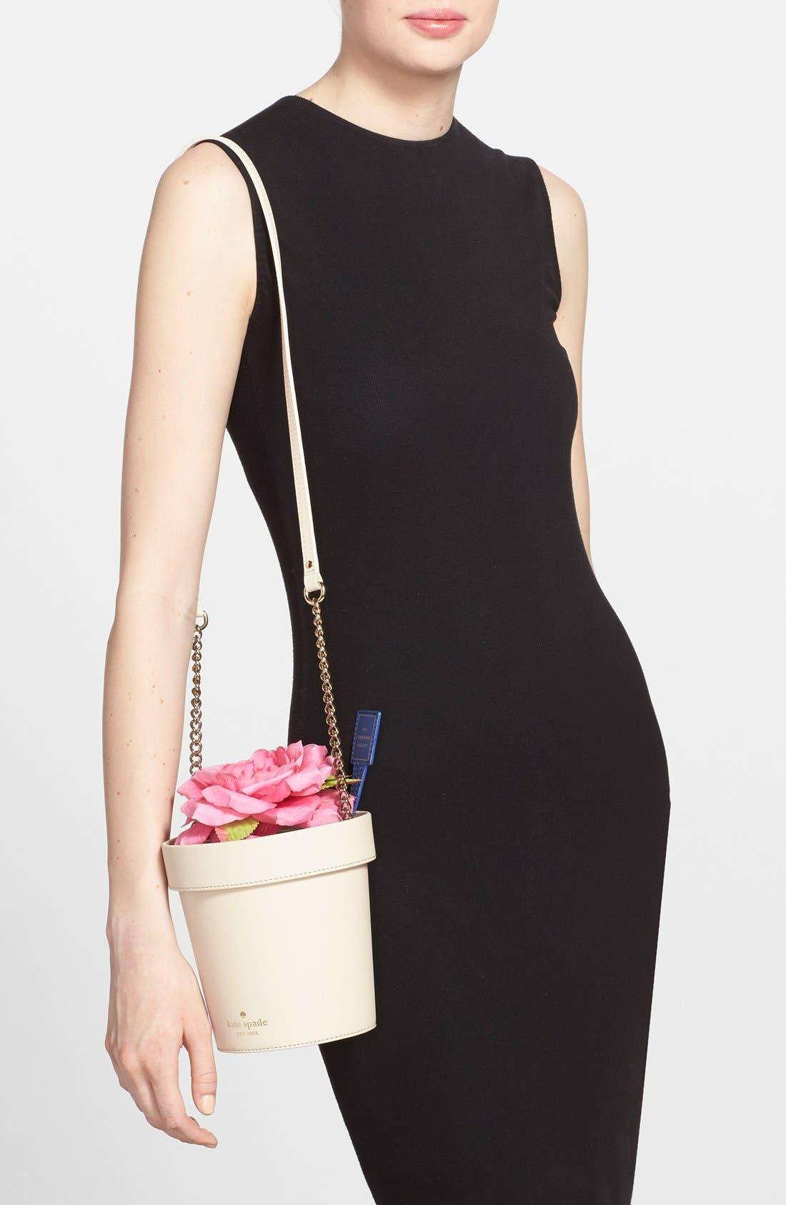 KATE SPADE NEW YORK, 'spring forward - flowerpot' crossbody bag, Alternate thumbnail 4, color, 100