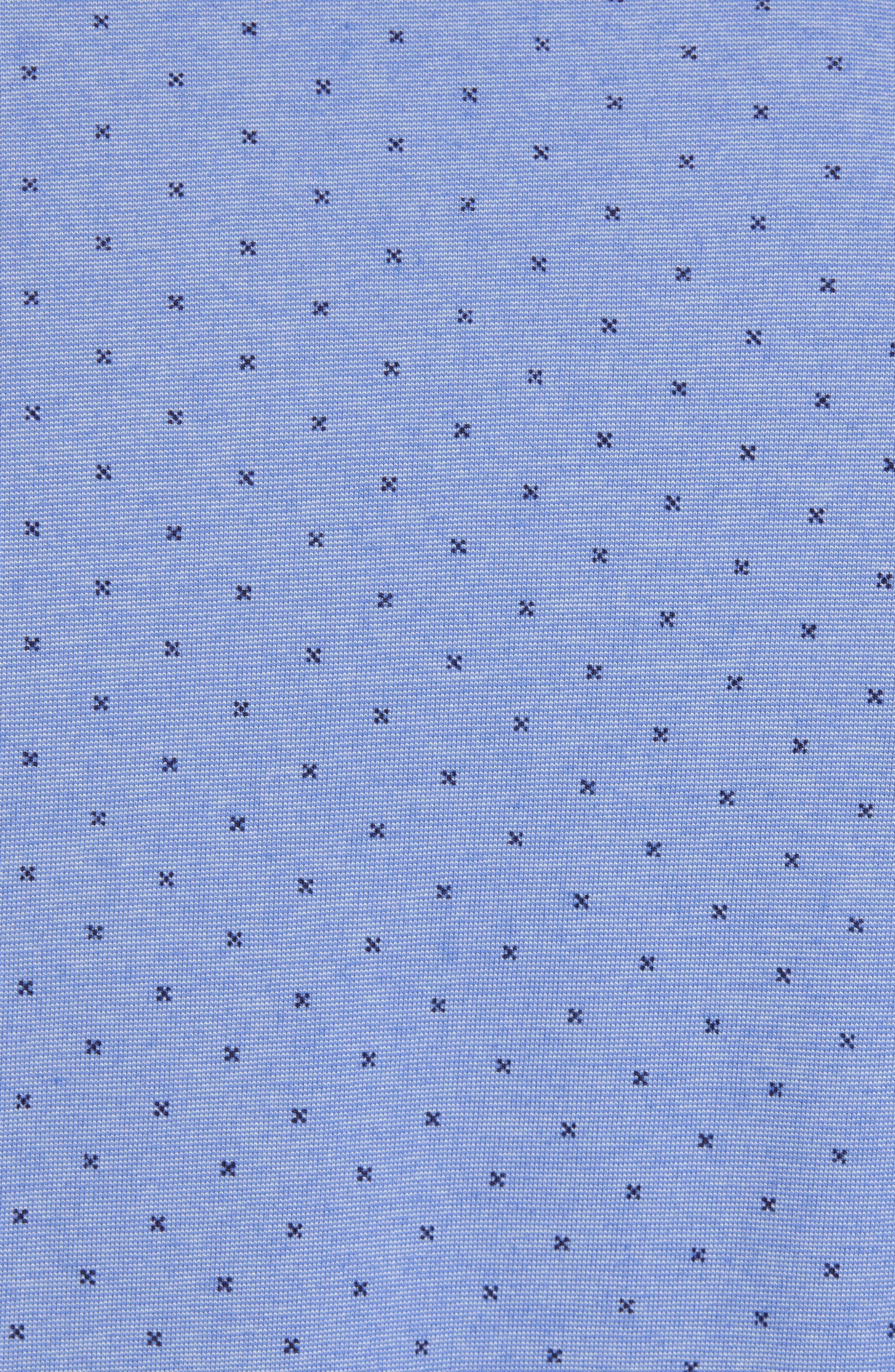 ZACHARY PRELL, Bayville Regular Fit Dobby Polo, Alternate thumbnail 5, color, LT BLUE