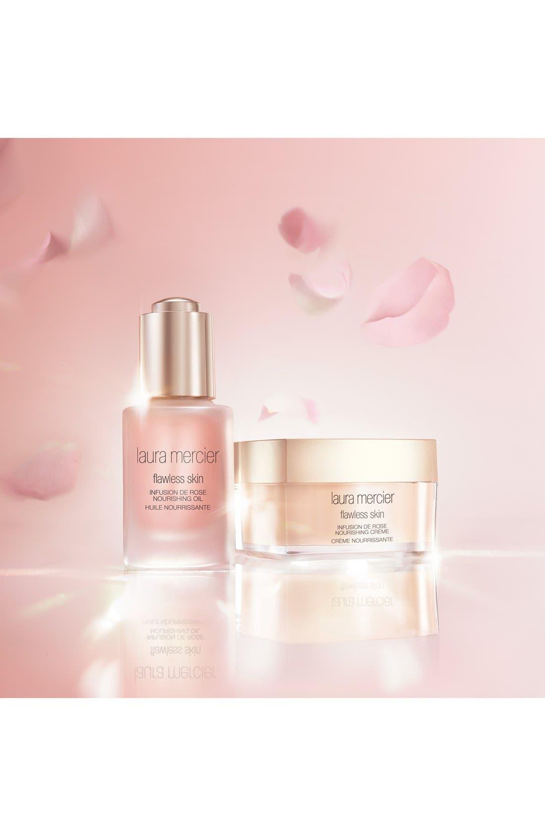 LAURA MERCIER, 'Flawless Skin' Infusion de Rose Nourishing Oil, Alternate thumbnail 2, color, NO COLOR