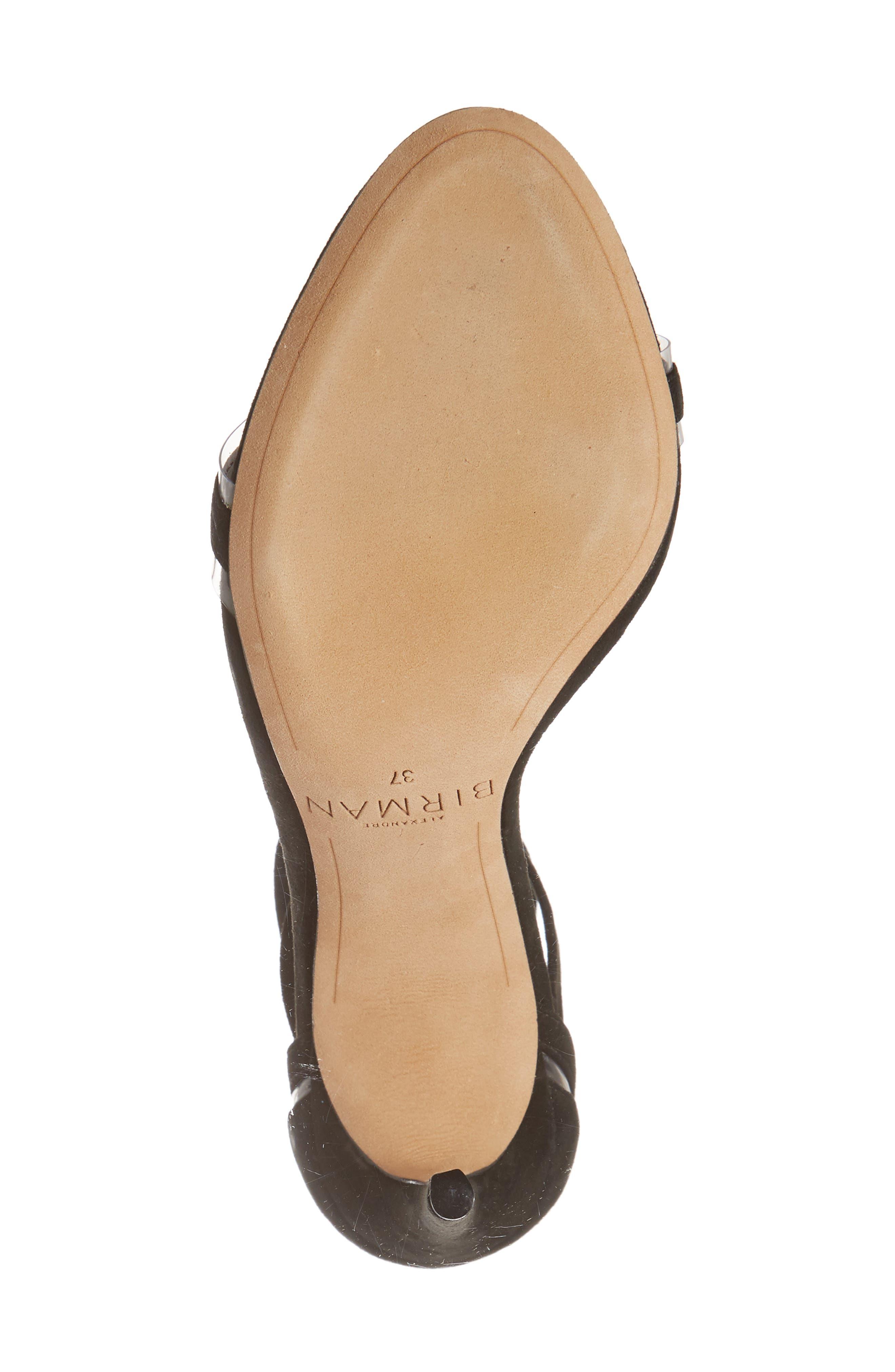 ALEXANDRE BIRMAN, Clarita Clear Ankle Tie Sandal, Alternate thumbnail 6, color, BLACK/ TRANSPARENT