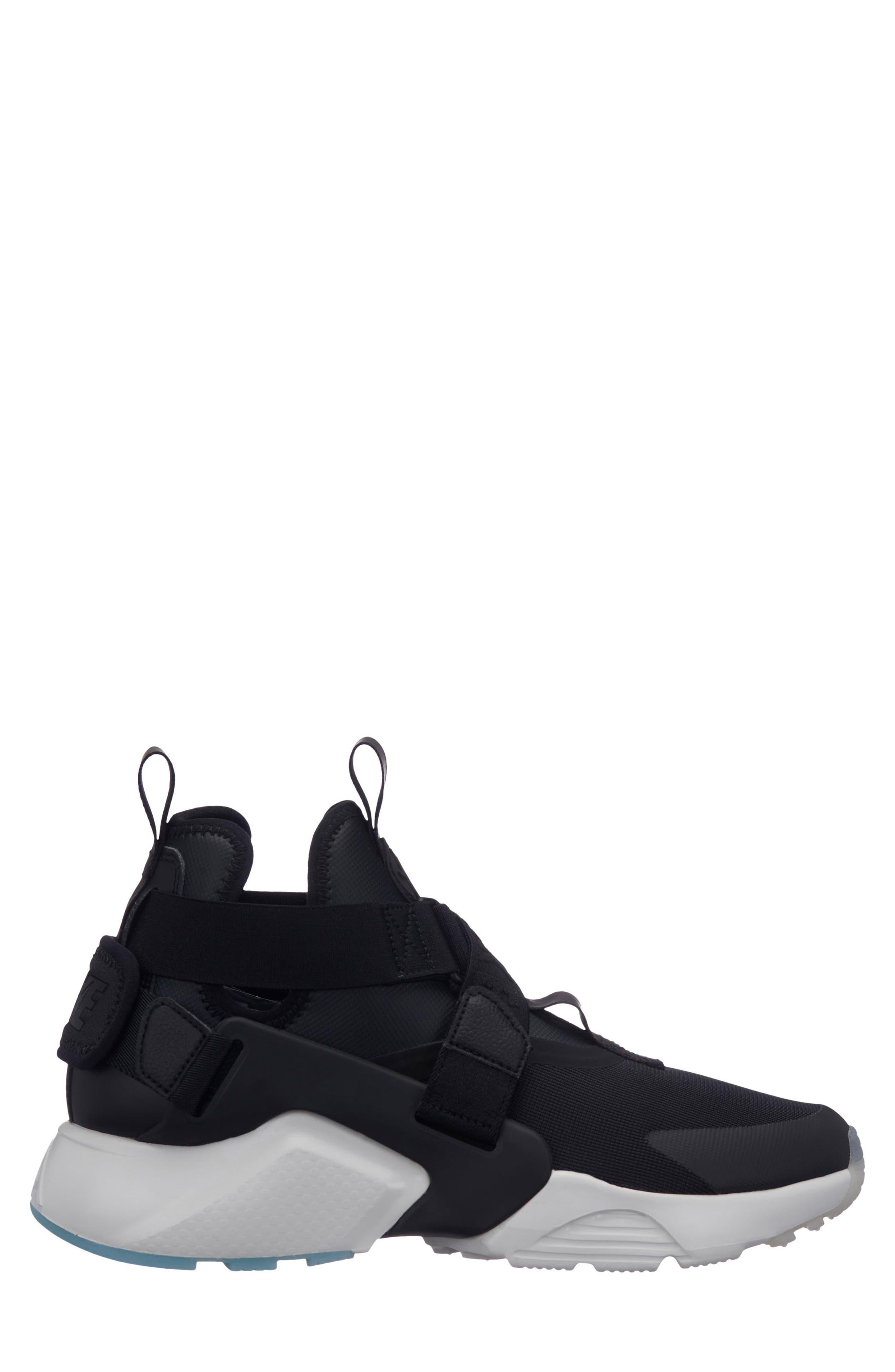 NIKE, Air Huarache City Sneaker, Main thumbnail 1, color, BLACK/ BLACK/ WHITE/ ICE