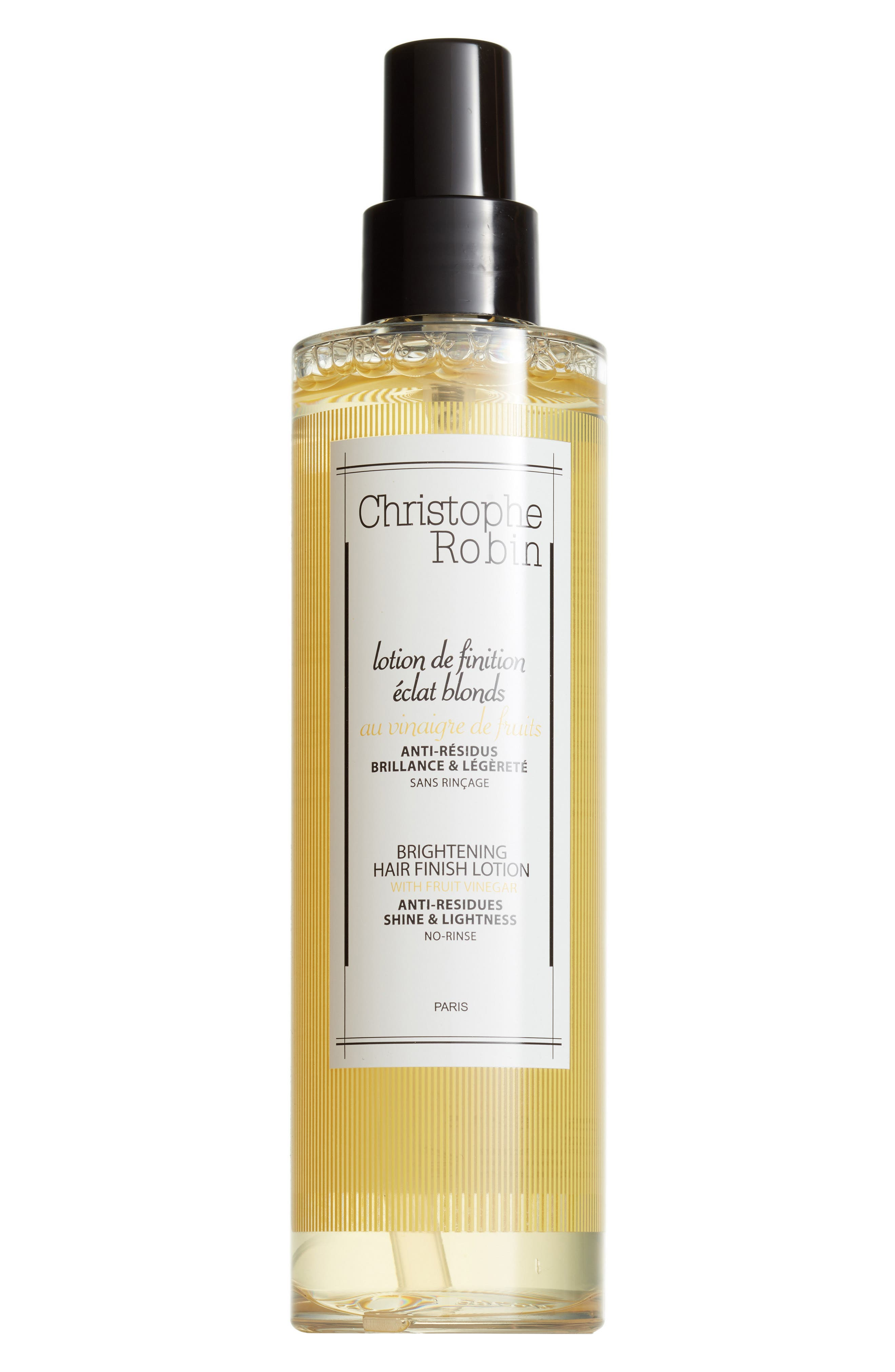 CHRISTOPHE ROBIN, SPACE.NK.apothecary Christophe Robin Brightening Hair Finish Lotion with Fruit Vinegar, Main thumbnail 1, color, 000