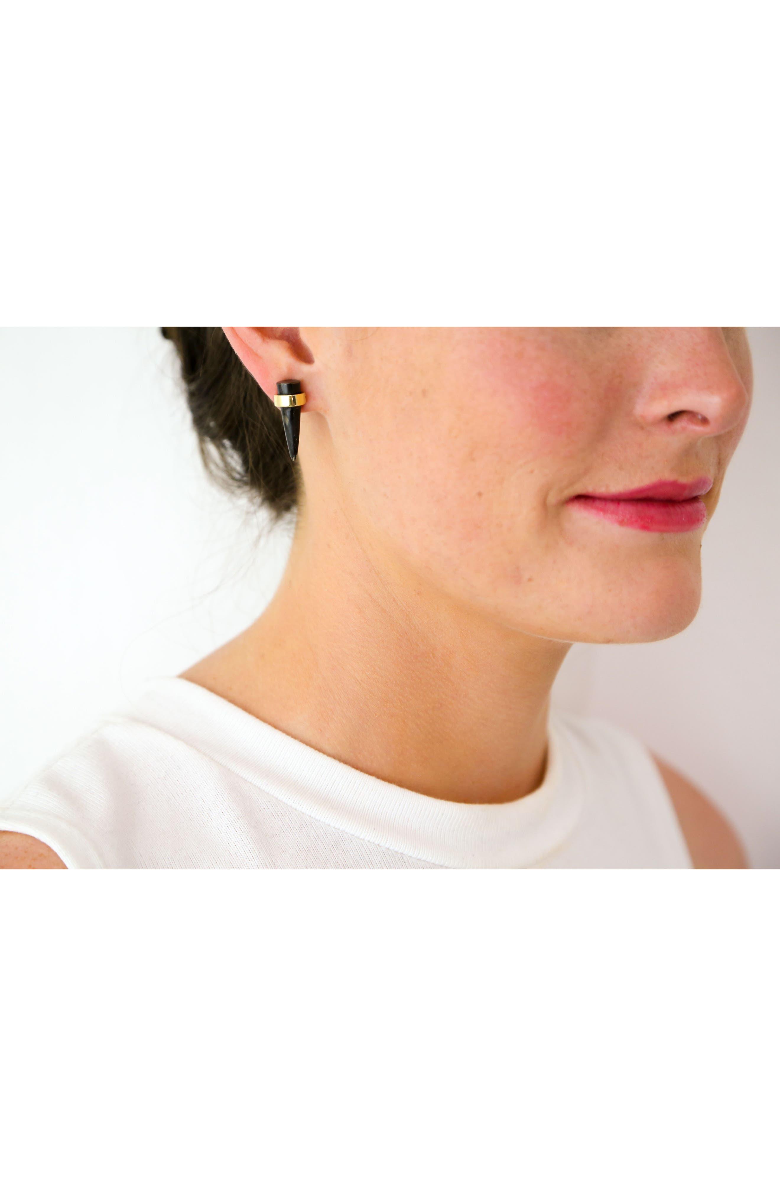 SOKO, Kili Stud Earrings, Alternate thumbnail 2, color, 010
