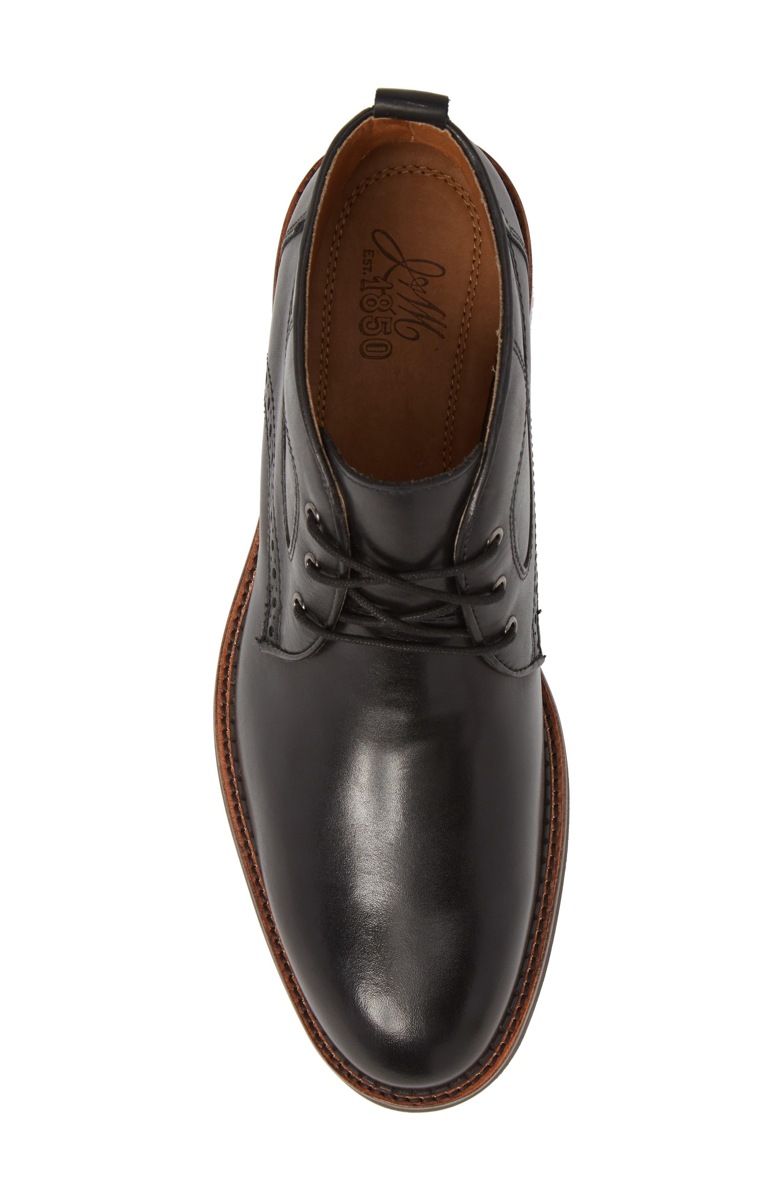 J&M 1850, Fullerton Chukka Boot, Alternate thumbnail 5, color, BLACK
