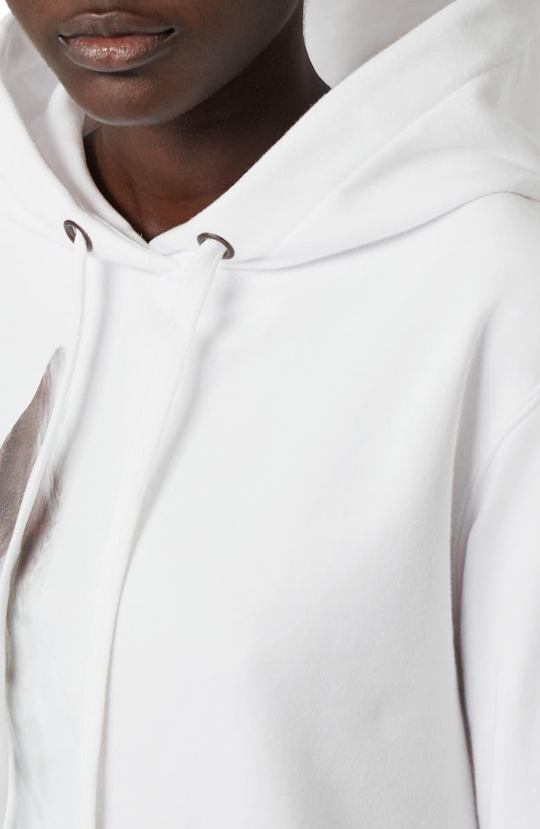 Burberry Unicorn Print Cotton Sweatshirt Hoodie In White