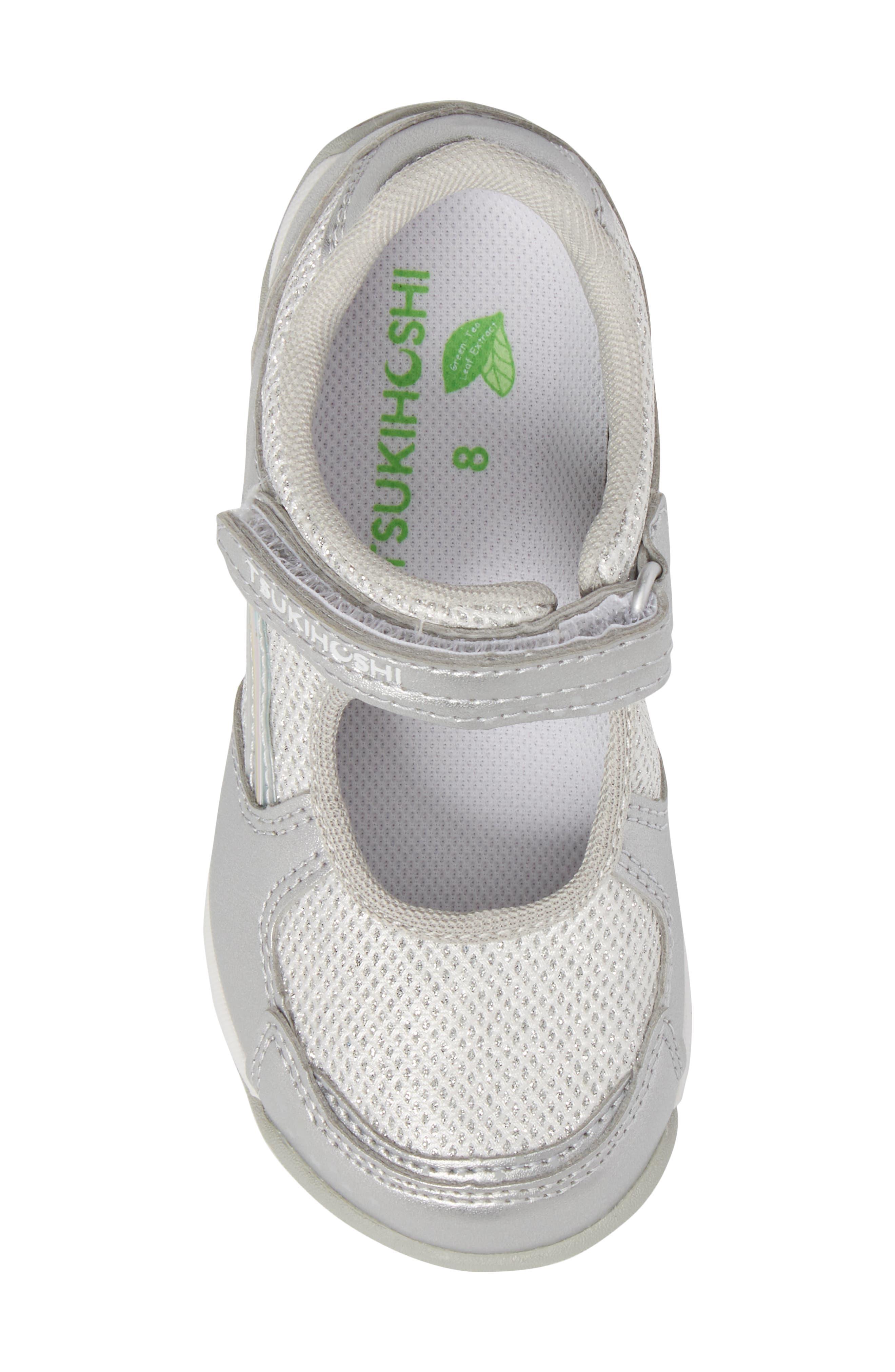 TSUKIHOSHI, Twinkle Washable Sneaker, Alternate thumbnail 5, color, SILVER/ SILVER