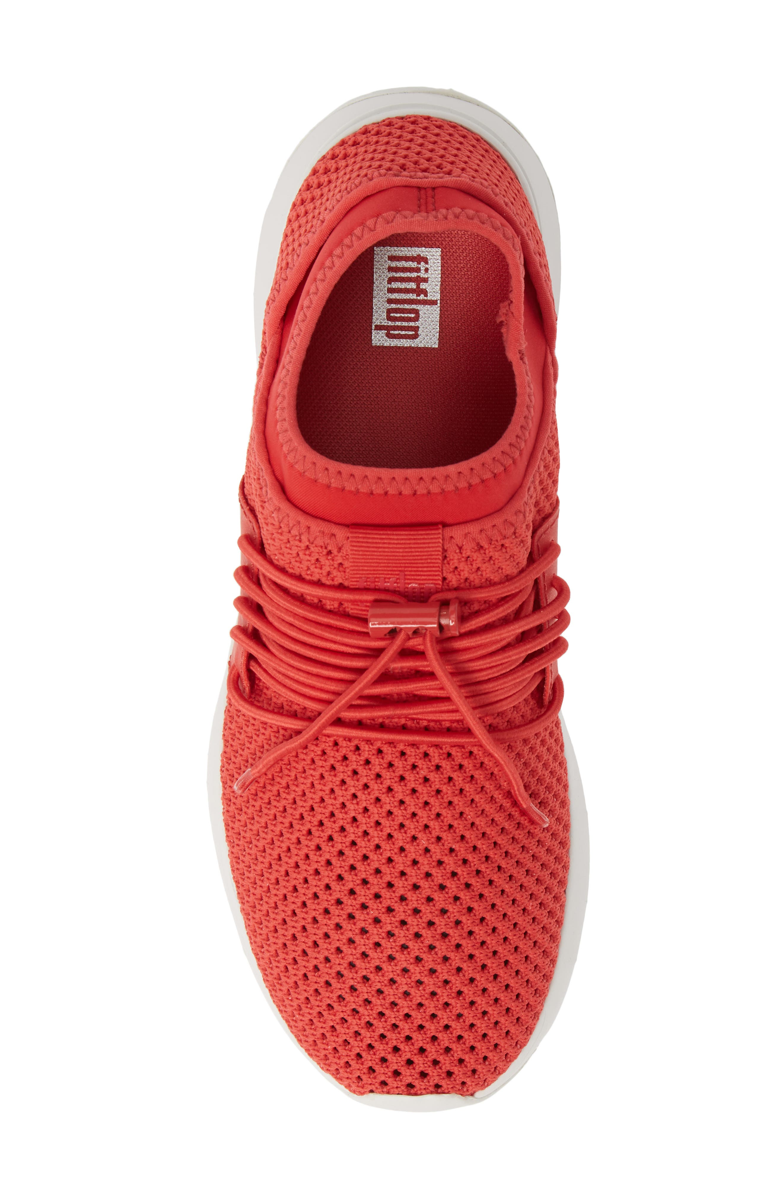 FITFLOP, Airmesh Sneaker, Alternate thumbnail 5, color, PASSION RED