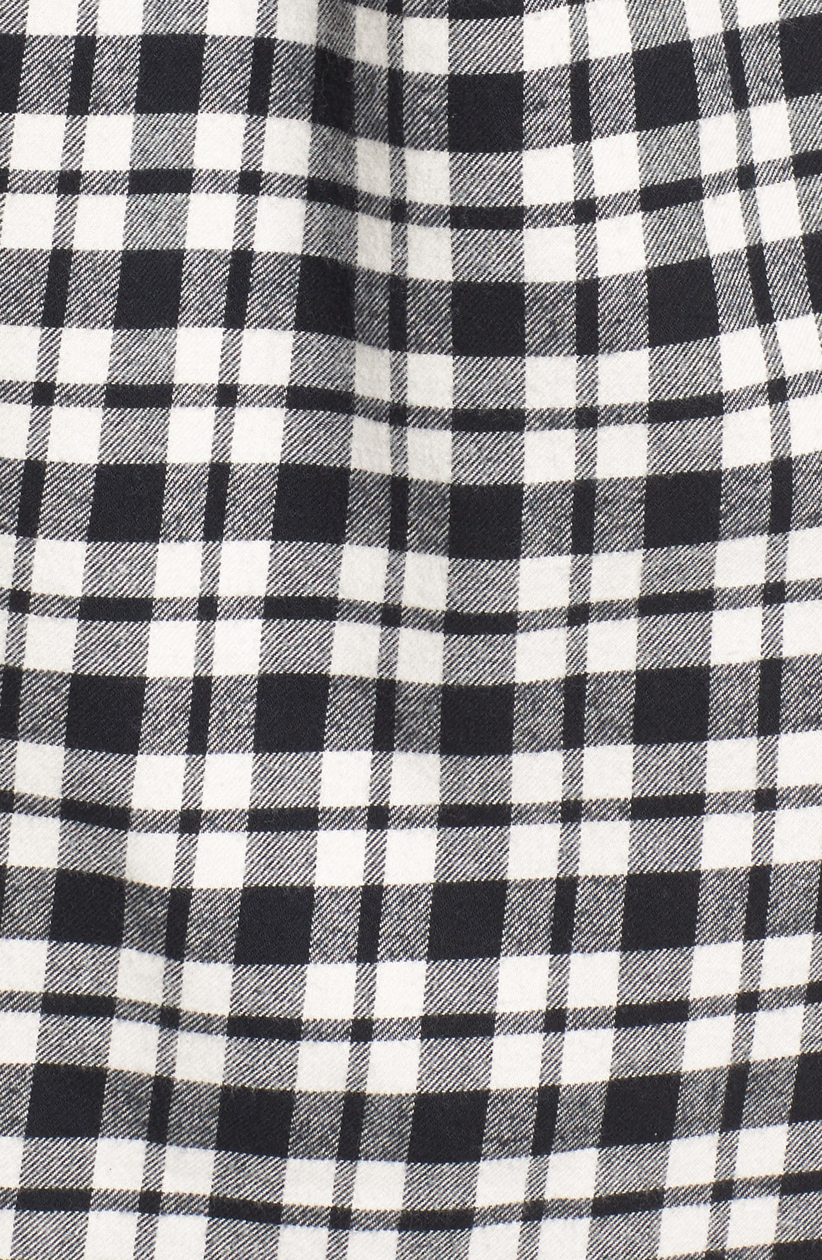 MADEWELL, Oversize Flannel Shirt, Alternate thumbnail 5, color, 002