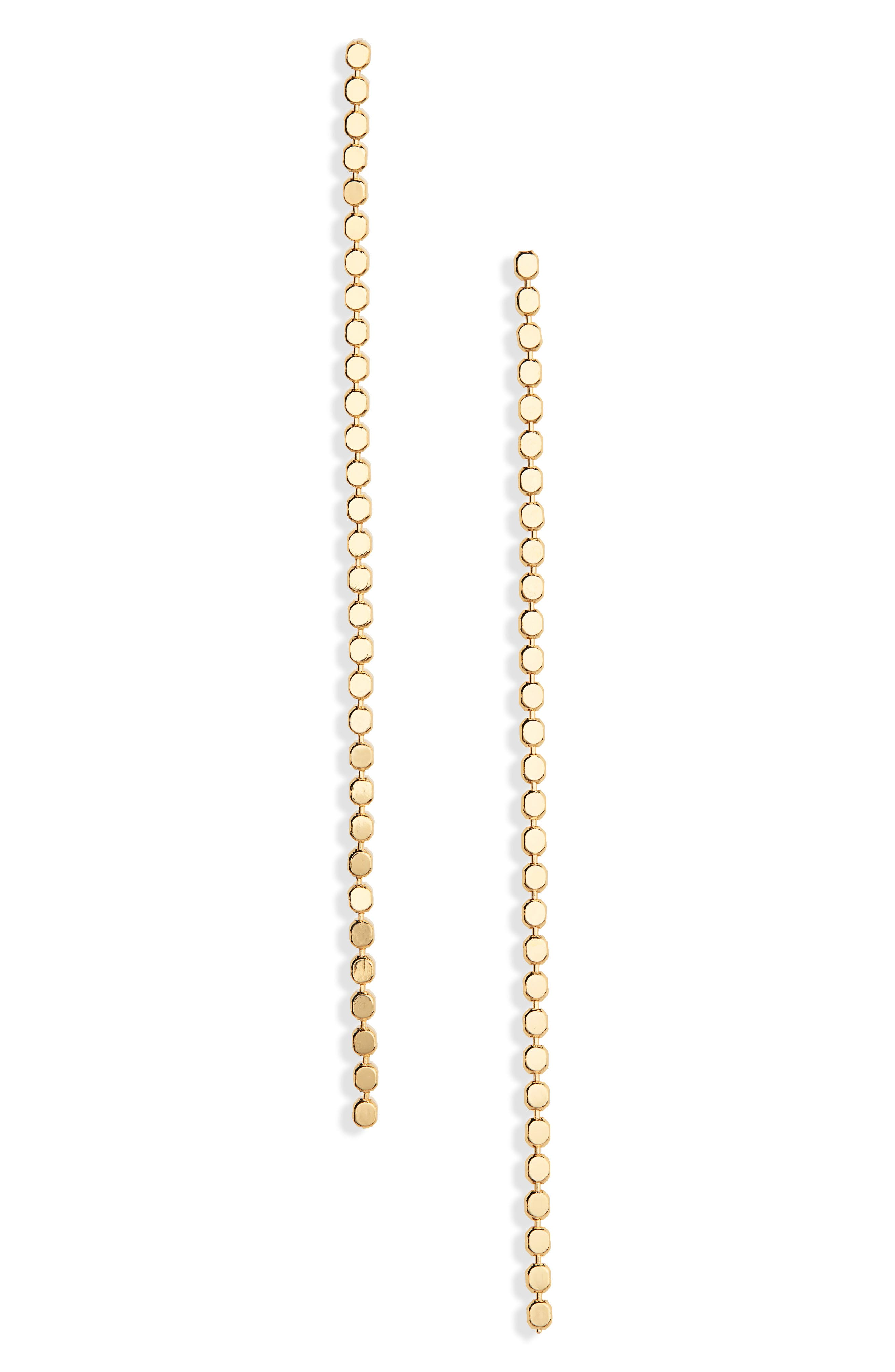 JULES SMITH, Deluxe Dotty Linear Earrings, Main thumbnail 1, color, GOLD