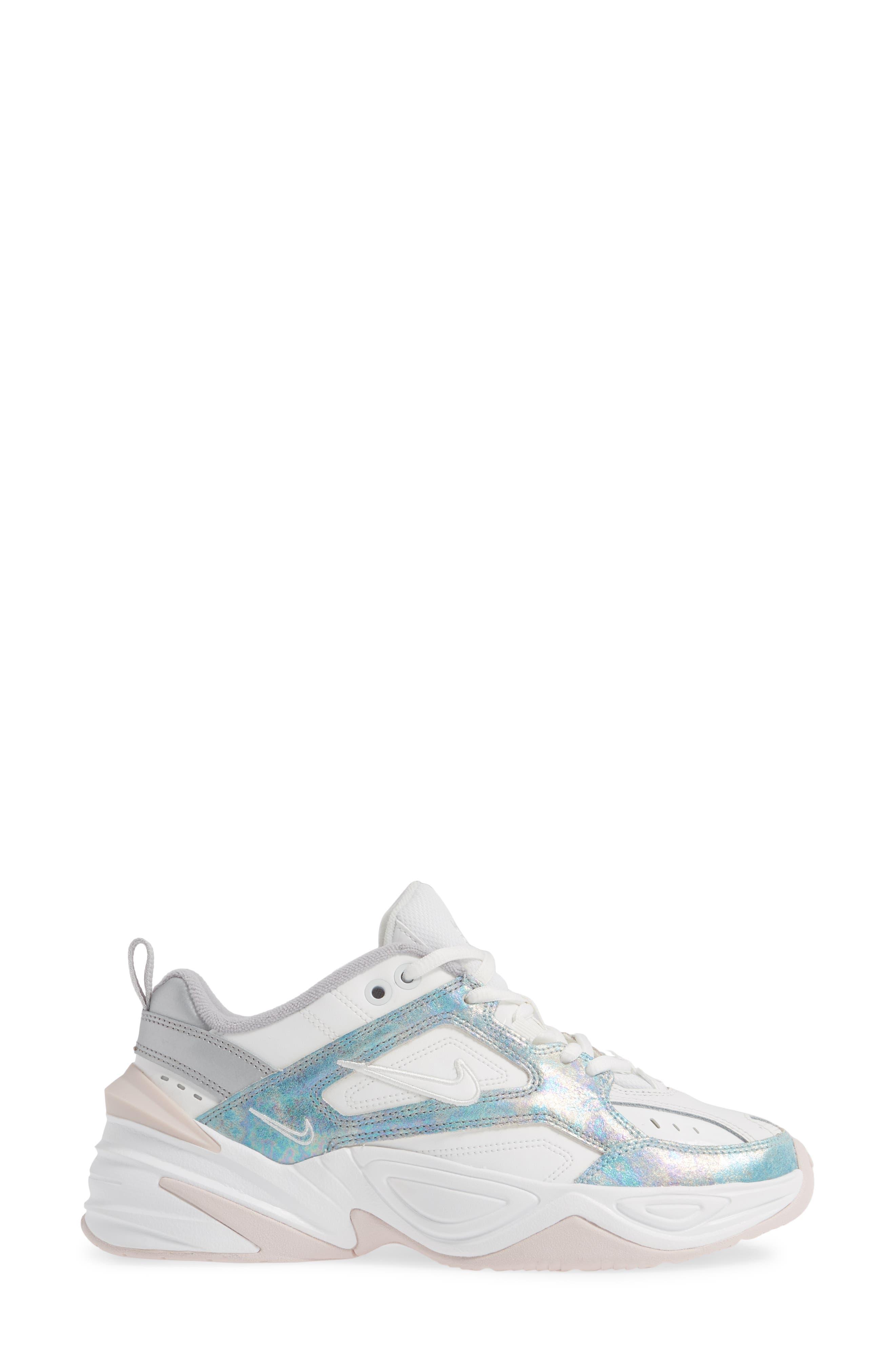 NIKE, M2K Tekno Sneaker, Alternate thumbnail 3, color, SUMMIT WHITE/ BARELY ROSE
