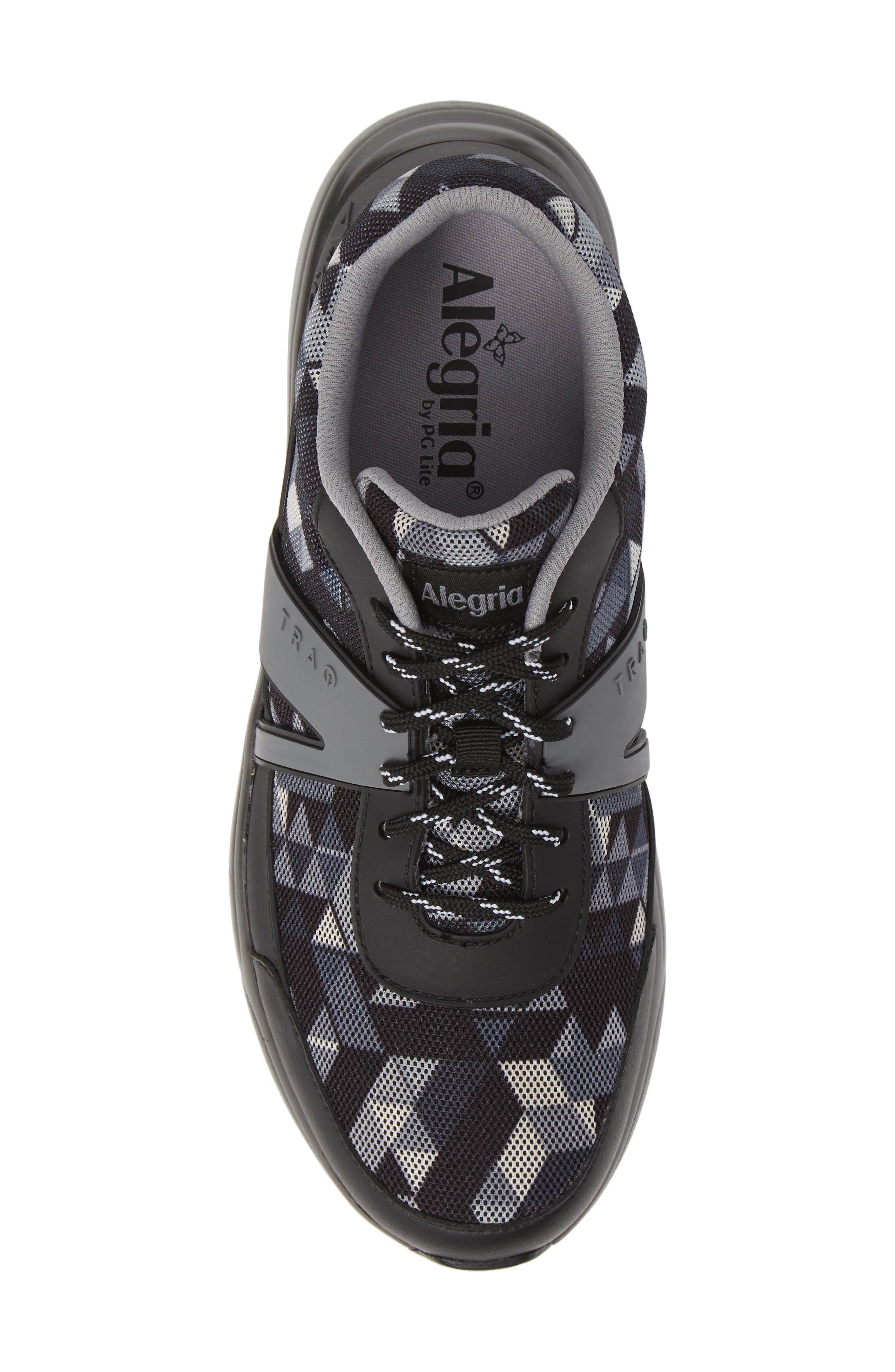 ALEGRIA, Qarma Sneaker, Alternate thumbnail 5, color, BLACK ANGLE LEATHER