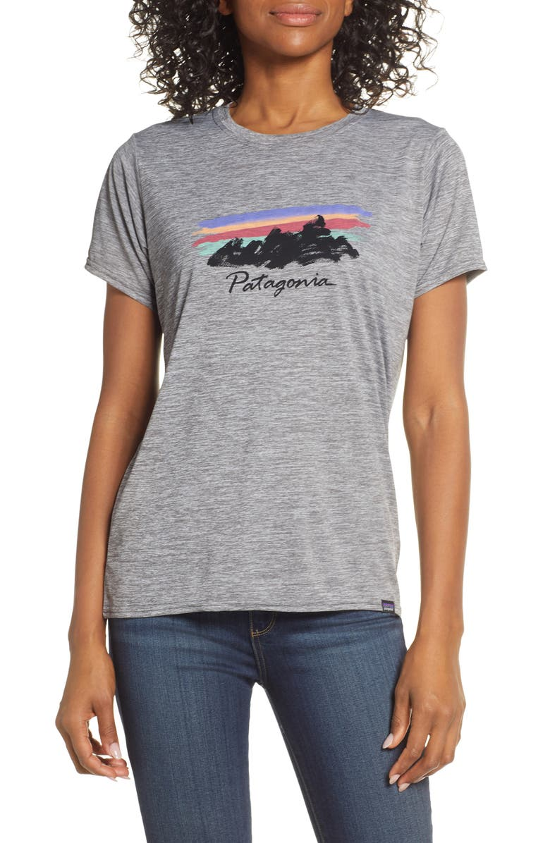 Patagonia Capilene Daily Graphic Tee In Freehand Fitzroy Grey