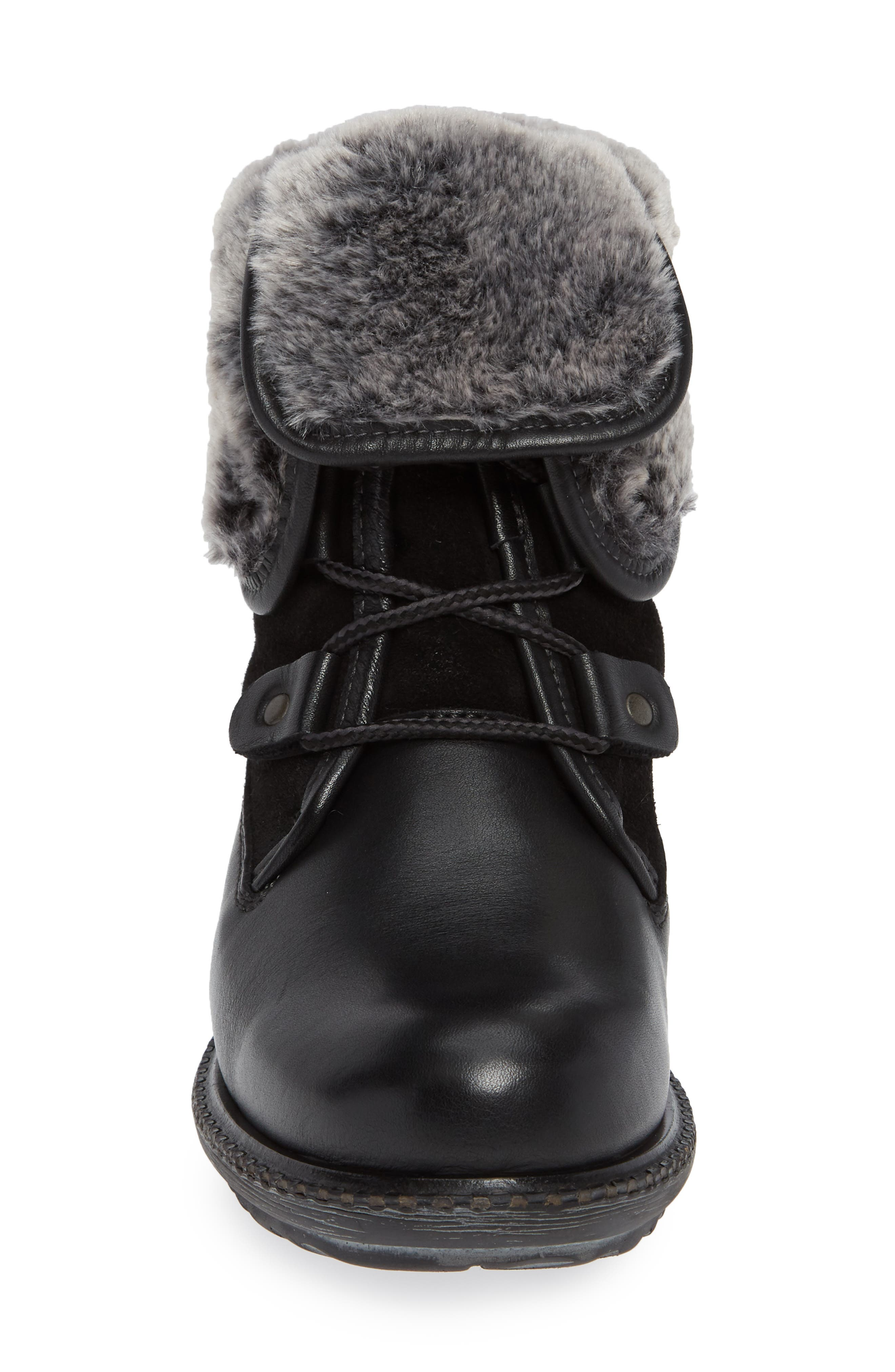 BOS. & CO., Springfield Waterproof Winter Boot, Alternate thumbnail 4, color, BLACK LEATHER