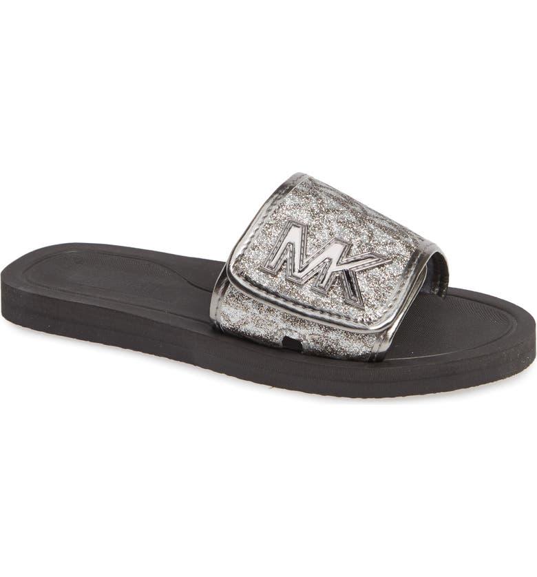 698223e9e819 MICHAEL Michael Kors Eli Seneca Glitter Slide Sandal (Toddler ...