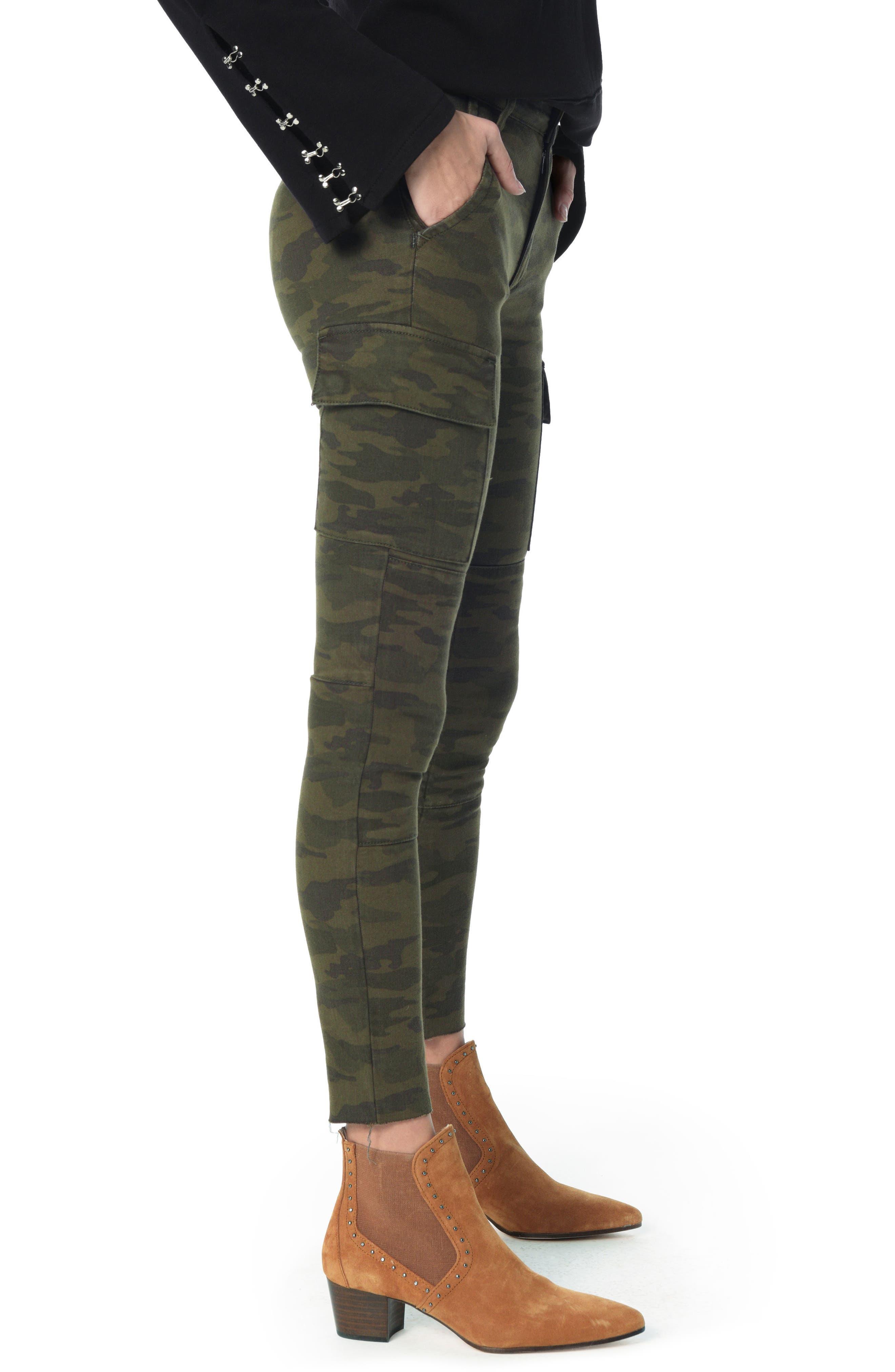 JOE'S, Charlie High Waist Cargo Ankle Skinny Jeans, Alternate thumbnail 3, color, 310