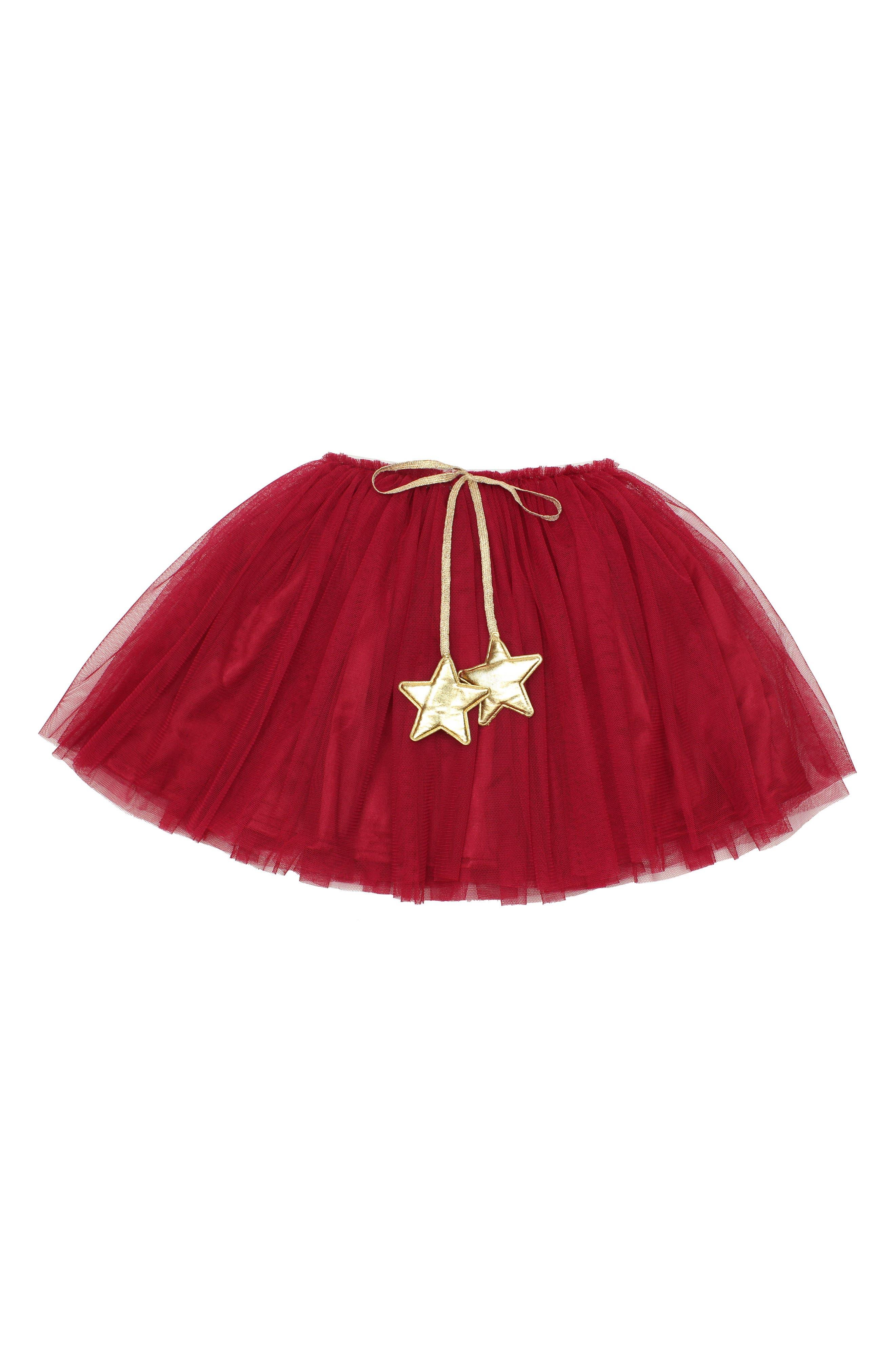 POPATU Gold Star Tutu Skirt, Main, color, BURGUNDY