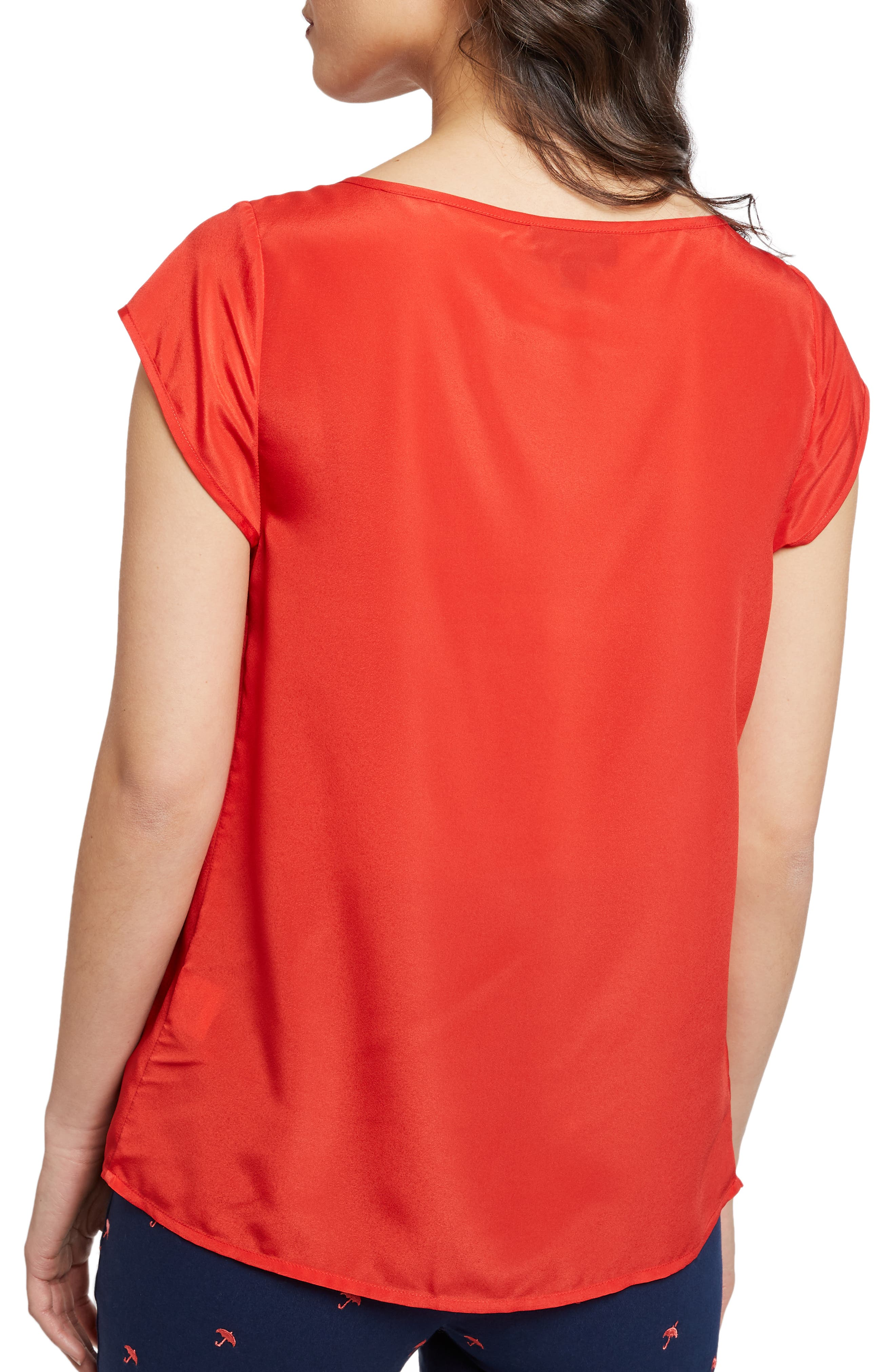 MODCLOTH, Graceful Expectations Top, Alternate thumbnail 3, color, RED SOLID