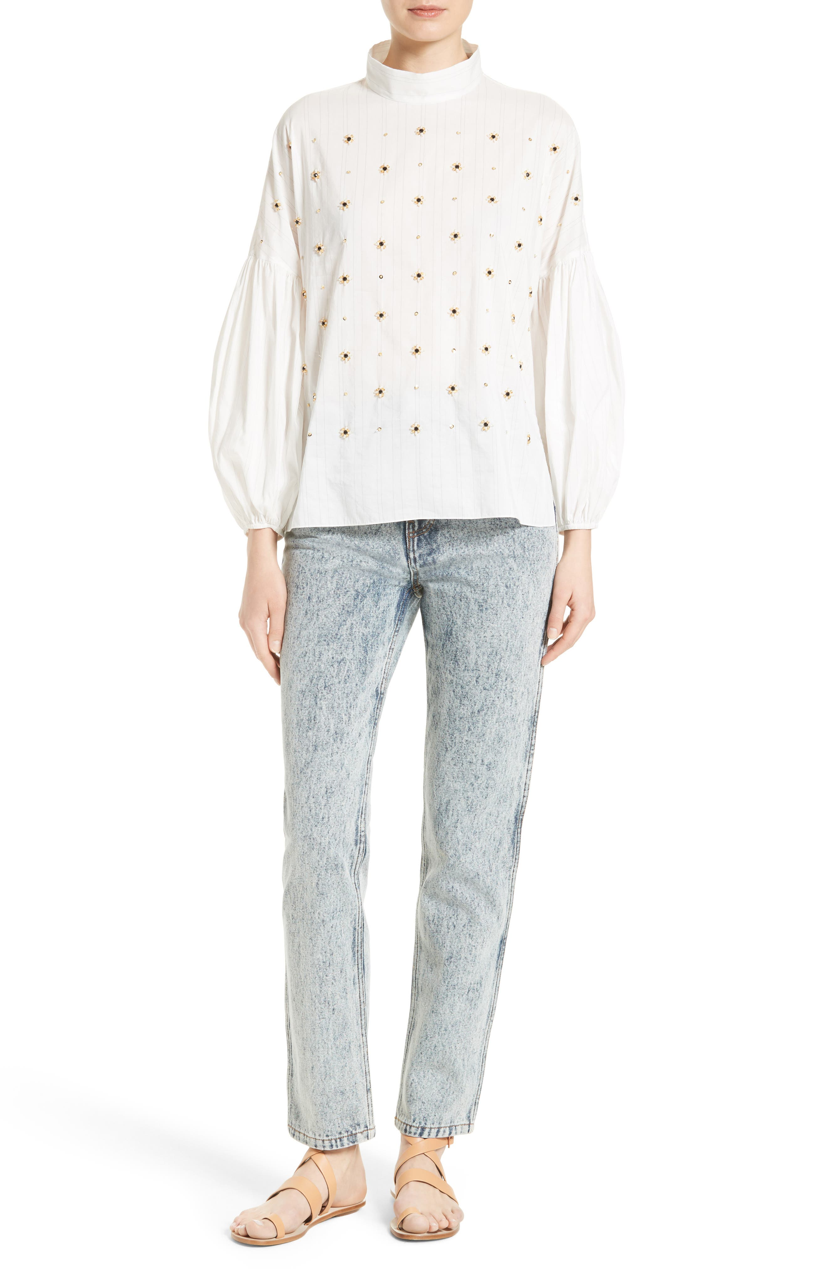 TIBI Trish Acid Wash Jeans, Main, color, 472