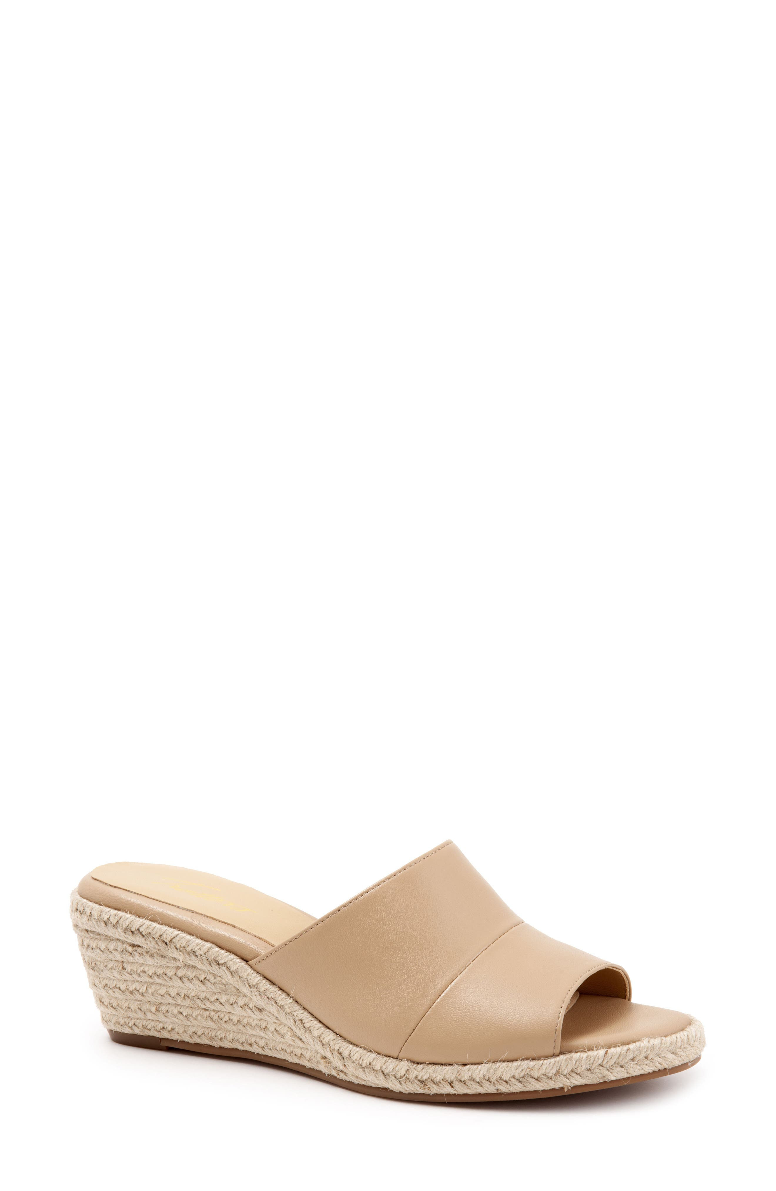 TROTTERS Colony Wedge Slide Sandal, Main, color, NUDE LEATHER