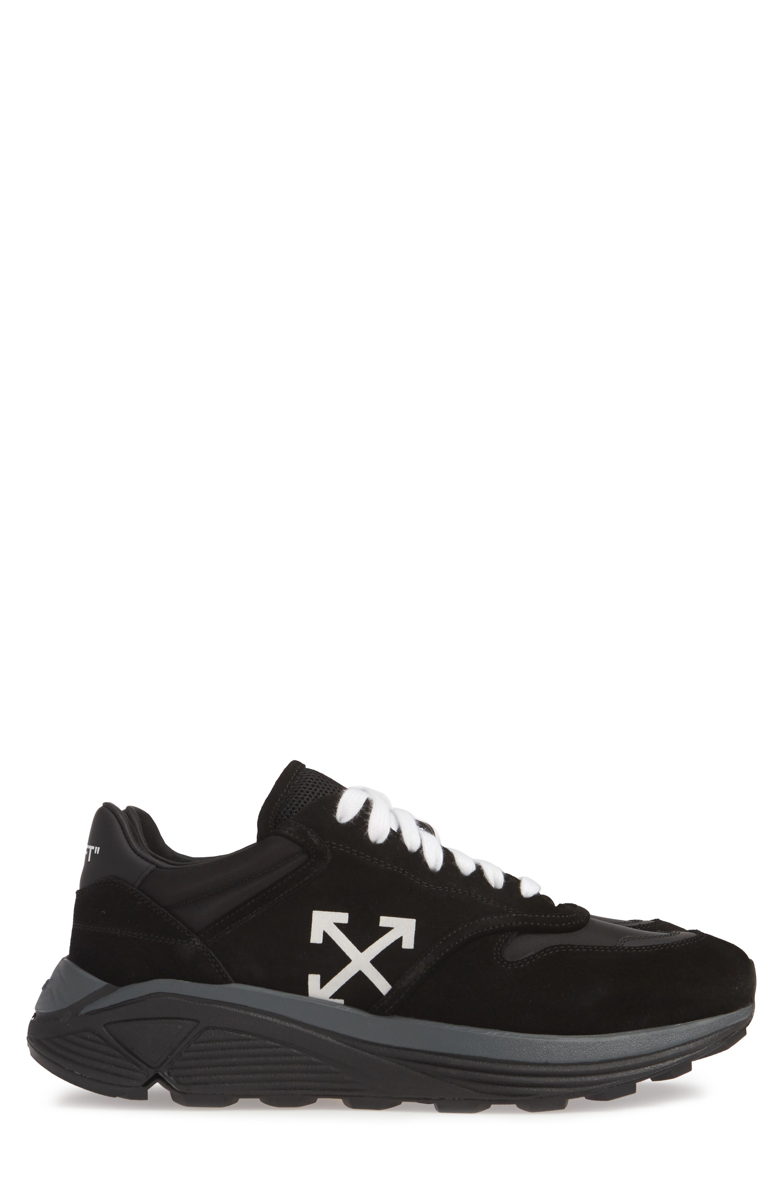 OFF-WHITE, Jogger Sneaker, Alternate thumbnail 4, color, BLACK/ WHITE