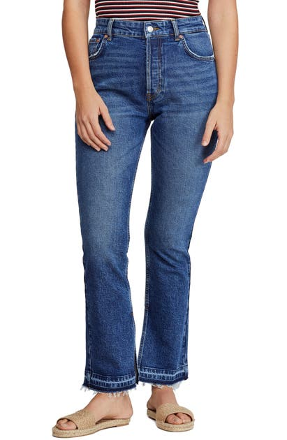 Free People Jeans EMMY HIGH WAIST SPLIT HEM BOOTCUT JEANS