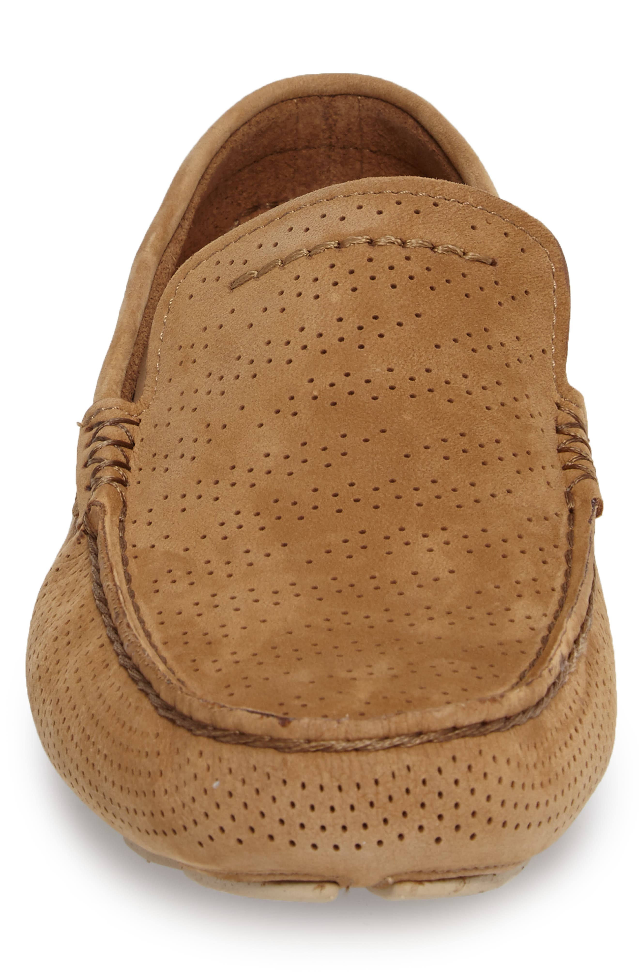UGG<SUP>®</SUP>, Henrick Twinsole<sup>®</sup> Driving Shoe, Alternate thumbnail 4, color, TAMARIND