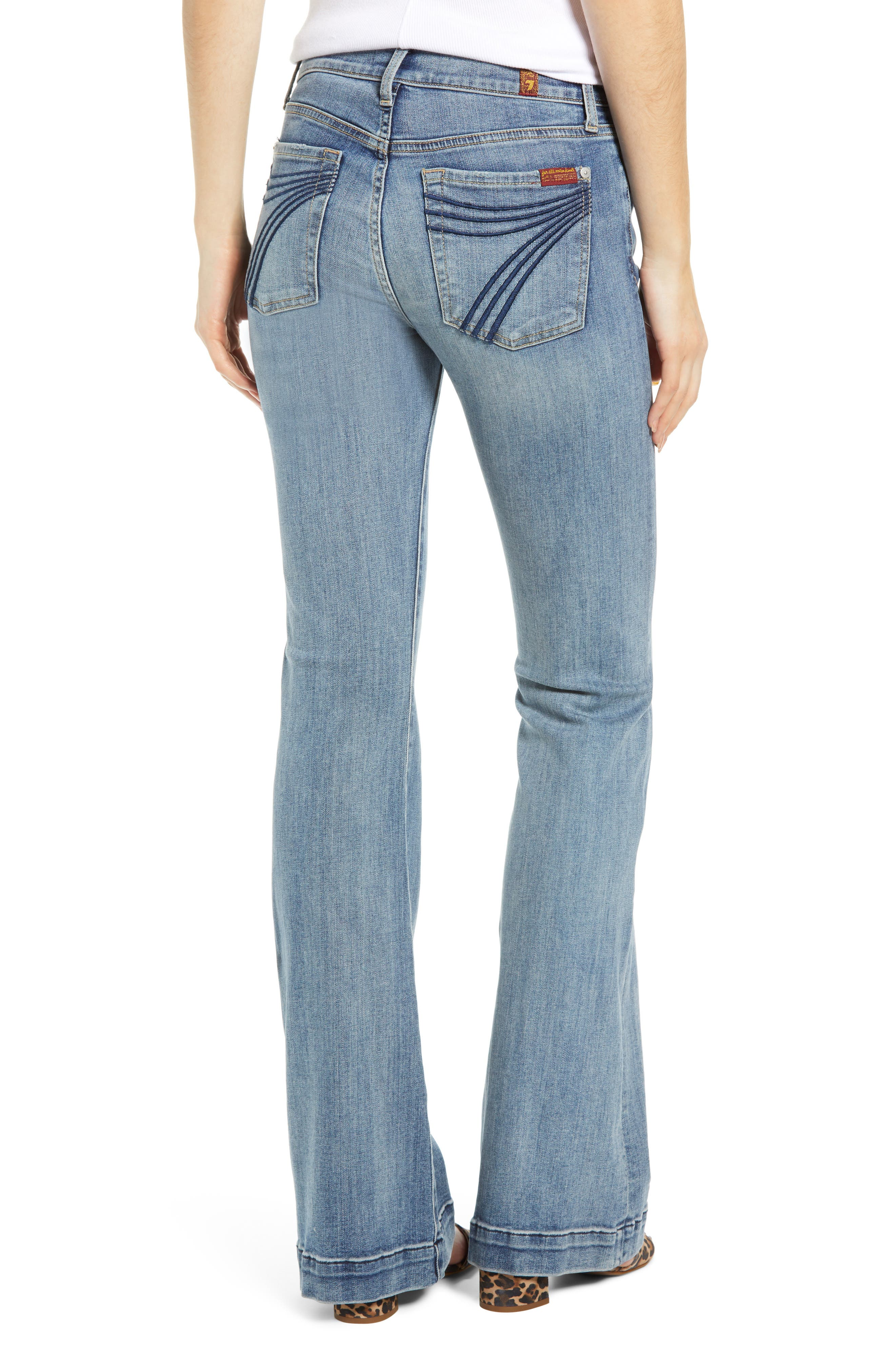7 FOR ALL MANKIND<SUP>®</SUP>, Dojo Wide Leg Jeans, Alternate thumbnail 2, color, BAIR AUTHENTIC FORTUNE