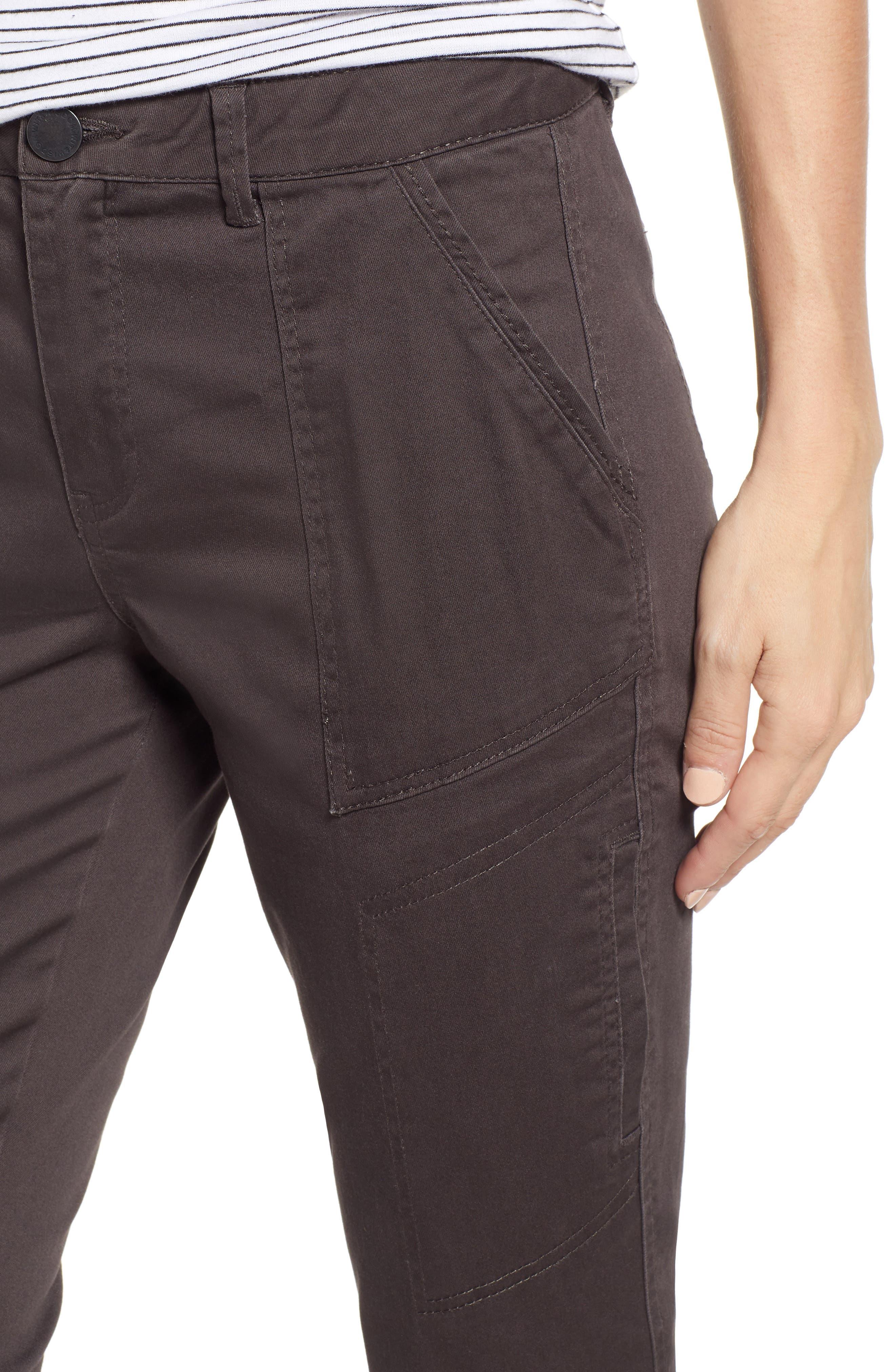 WIT & WISDOM, Flex-ellent High Waist Cargo Pants, Alternate thumbnail 5, color, ESPRESSO