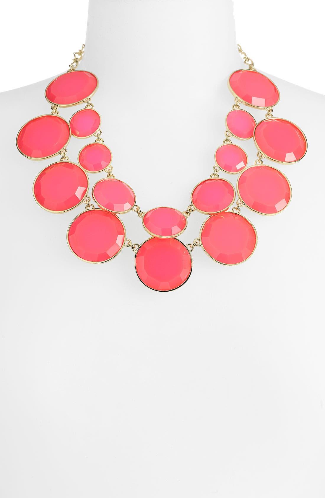 KATE SPADE NEW YORK, 'bauble box' double row bib necklace, Main thumbnail 1, color, 670